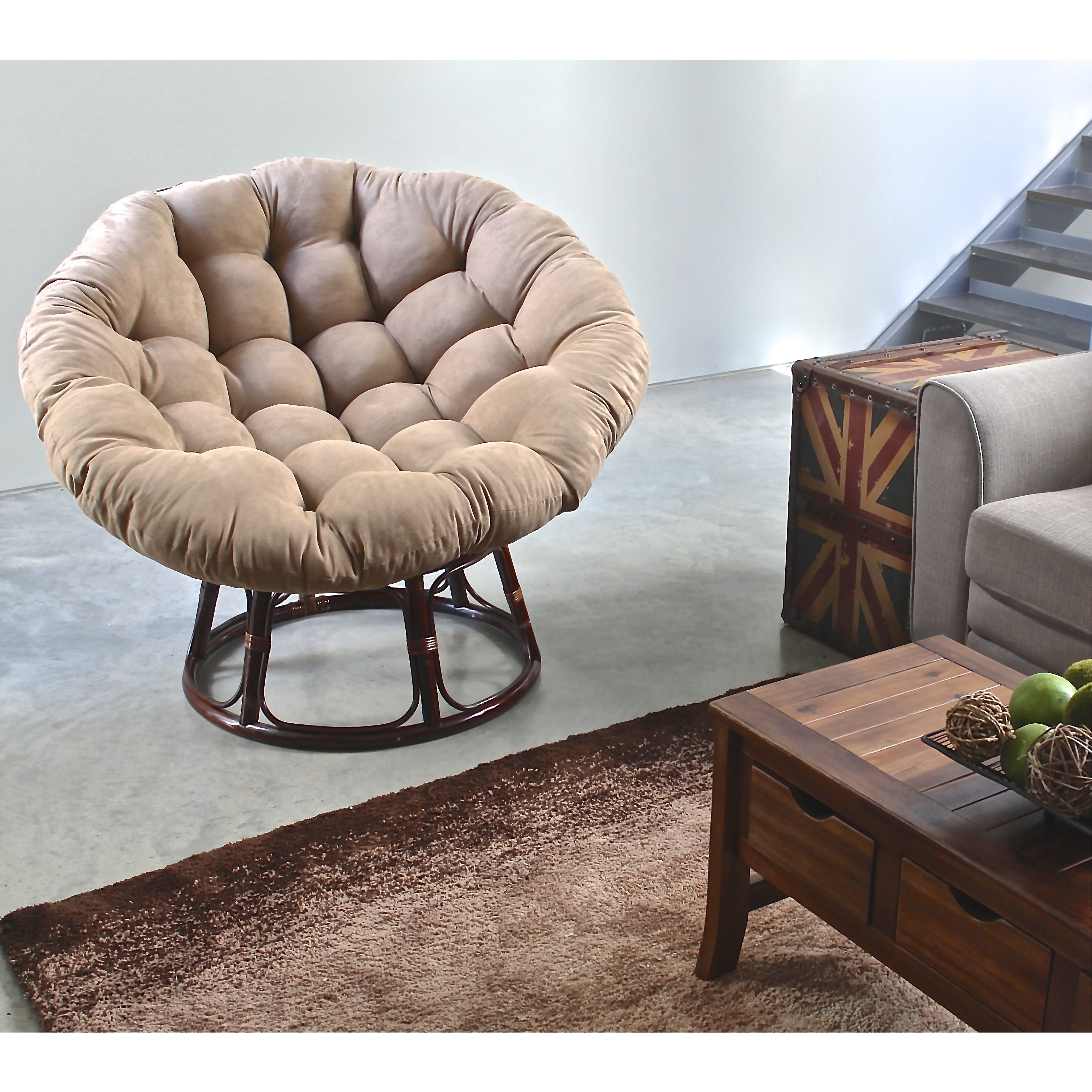 Widely Used Big Lots Chaises Inside Convertible Chair : Papasan Chair Metal Frame Fireplace Tv Stand (View 4 of 15)
