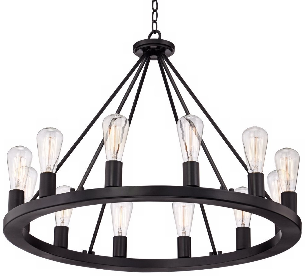 "Widely Used Black Chandelier With Lacey 28"" Wide Round Black Chandelier – – Amazon (View 15 of 15)"