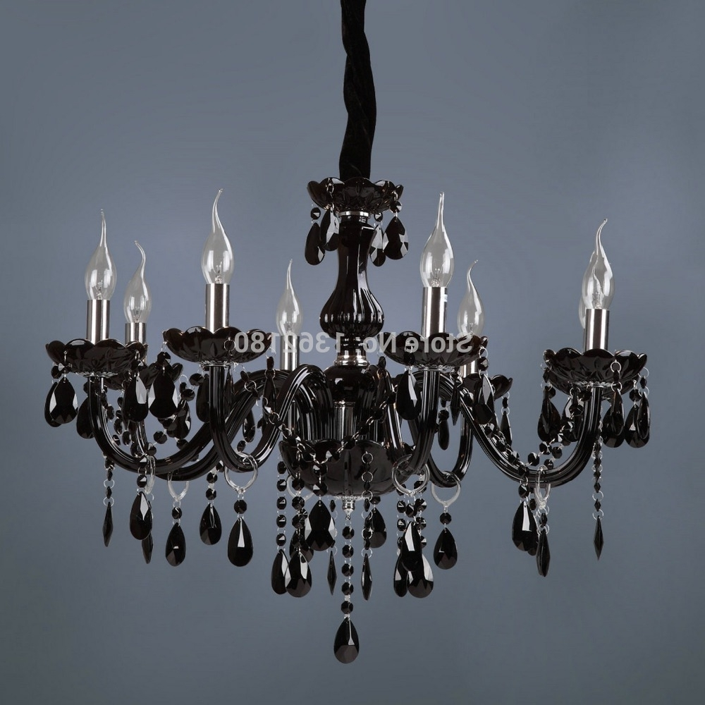 Widely Used Black Glass Chandelier For Brand New Classic Black Crystal Glass Chandelier Modern Fashion Art (View 7 of 15)