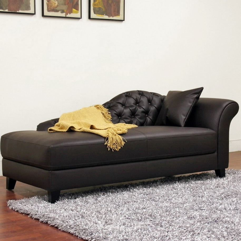 Widely Used Black Leather Chaise Lounge Chairs In Apartments: Elegant Black Leather Chaise Lounges With Victorian (View 8 of 15)