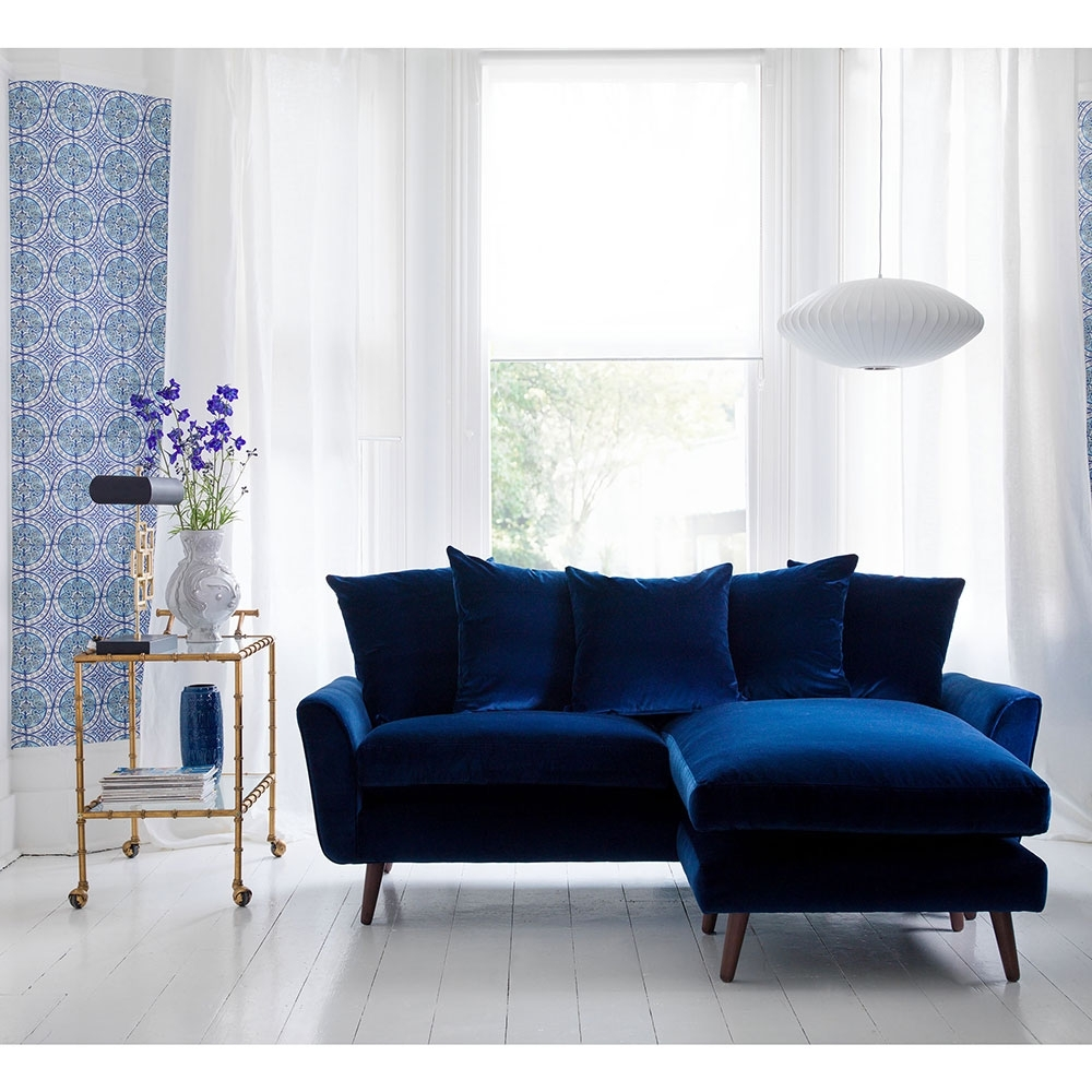 Widely Used Blue Velvet Sofa: It's A Trend In Decoration Art Decor Homes With Velvet Sofas (View 14 of 15)
