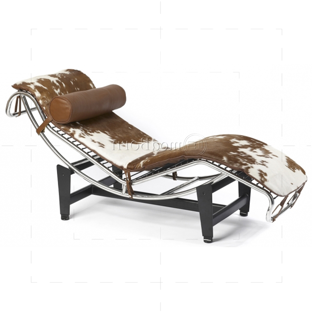 Widely Used Brown Chaise Lounge Chair By Le Corbusier With Regard To Le Corbusier Style Lc4 Chaise Longue Pony Leather – Replica (View 6 of 15)