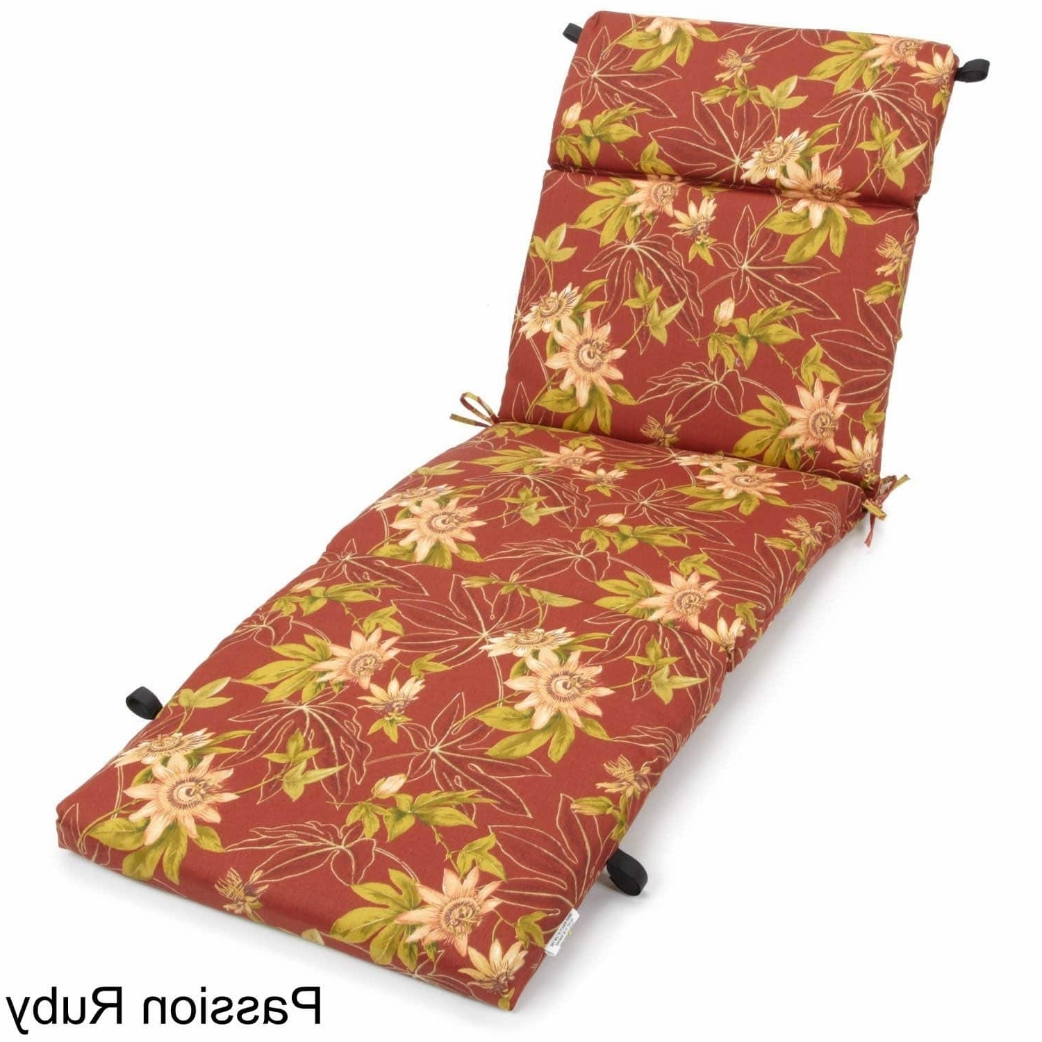 Widely Used Chaise Lounge Chair Outdoor Cushions With Outdoor Chaise Lounge Cushion – Free Shipping Today – Overstock (View 12 of 15)