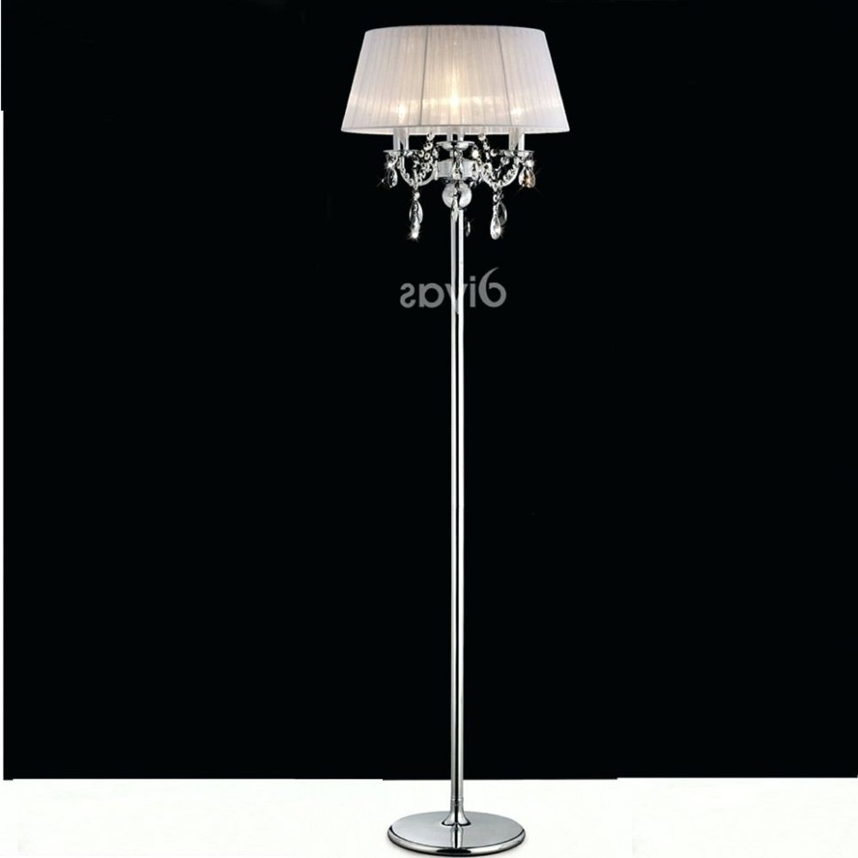 Widely Used Chandeliers Design : Amazing Chandelier Shades Bathroom Chandeliers Throughout Crystal Chandelier Standing Lamps (View 14 of 15)