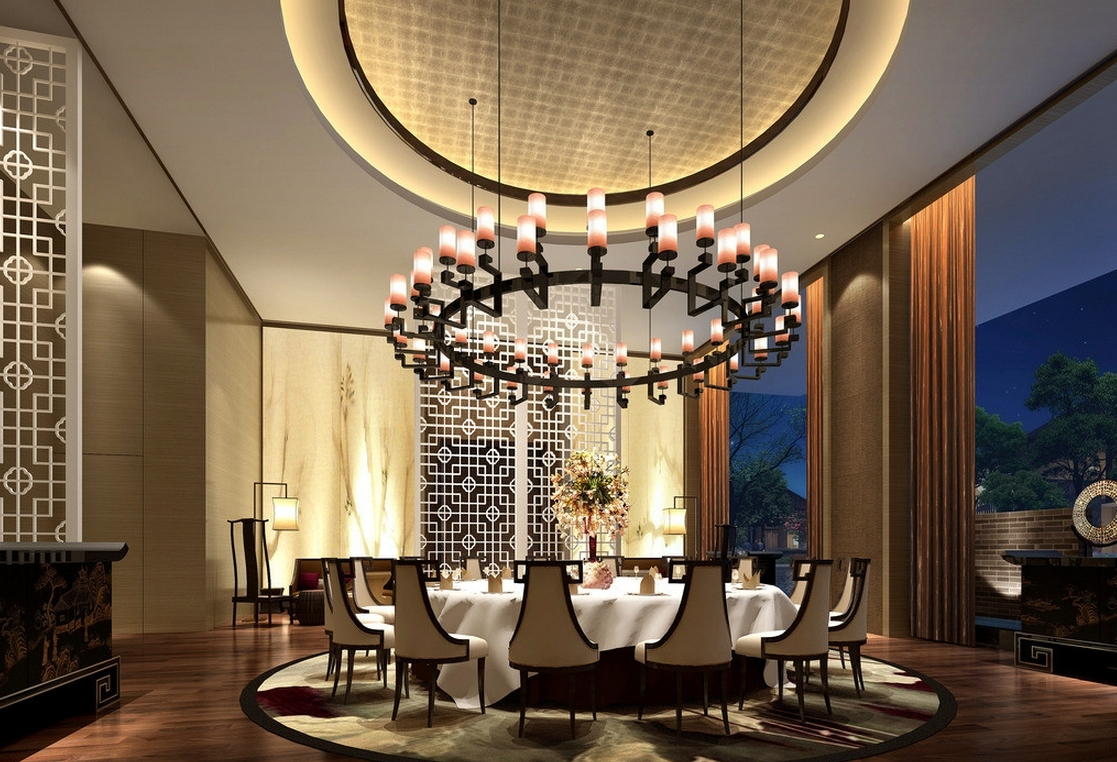 Widely Used Chinese Chandeliers Throughout Light : Brilliant Classy Restaurant With Posh Chandeliers Model Max (View 15 of 15)
