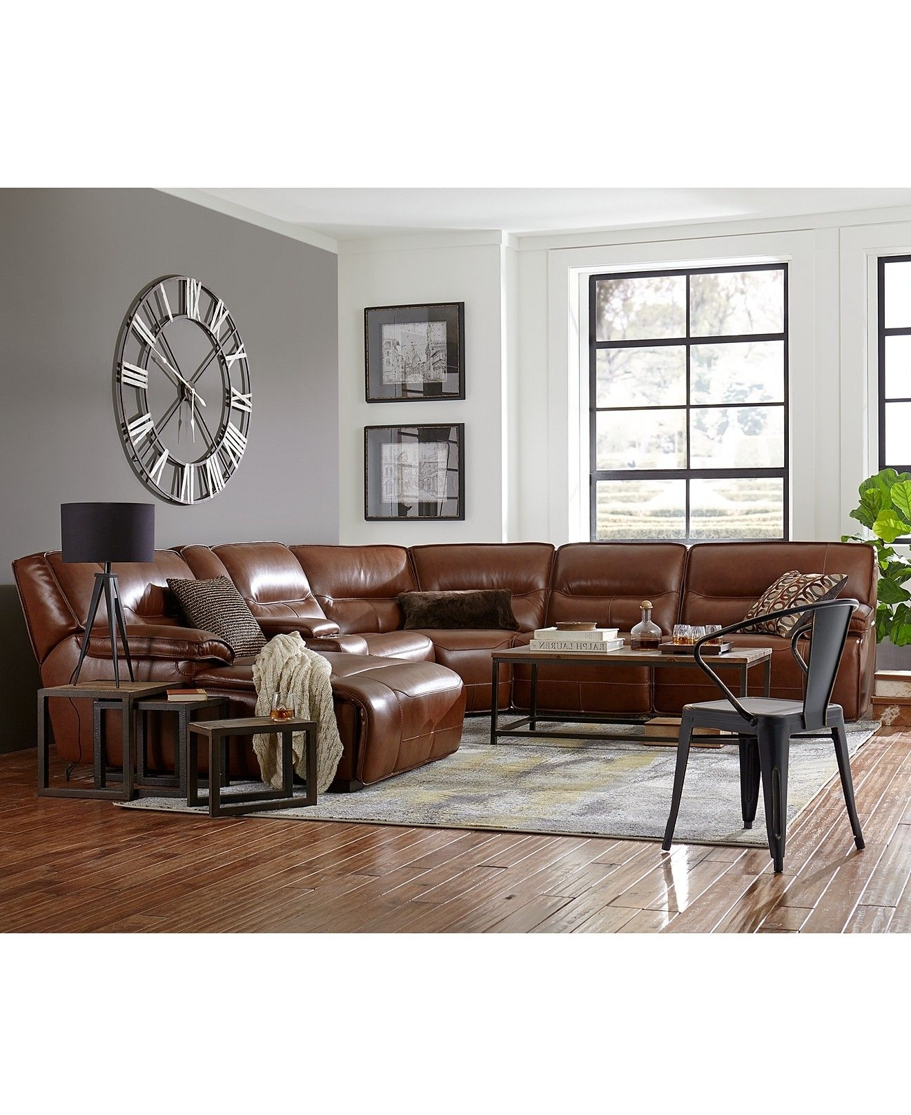 Widely Used Closeout! Beckett Leather Power Reclining Sectional Sofa Inside Macys Leather Sectional Sofas (View 6 of 15)