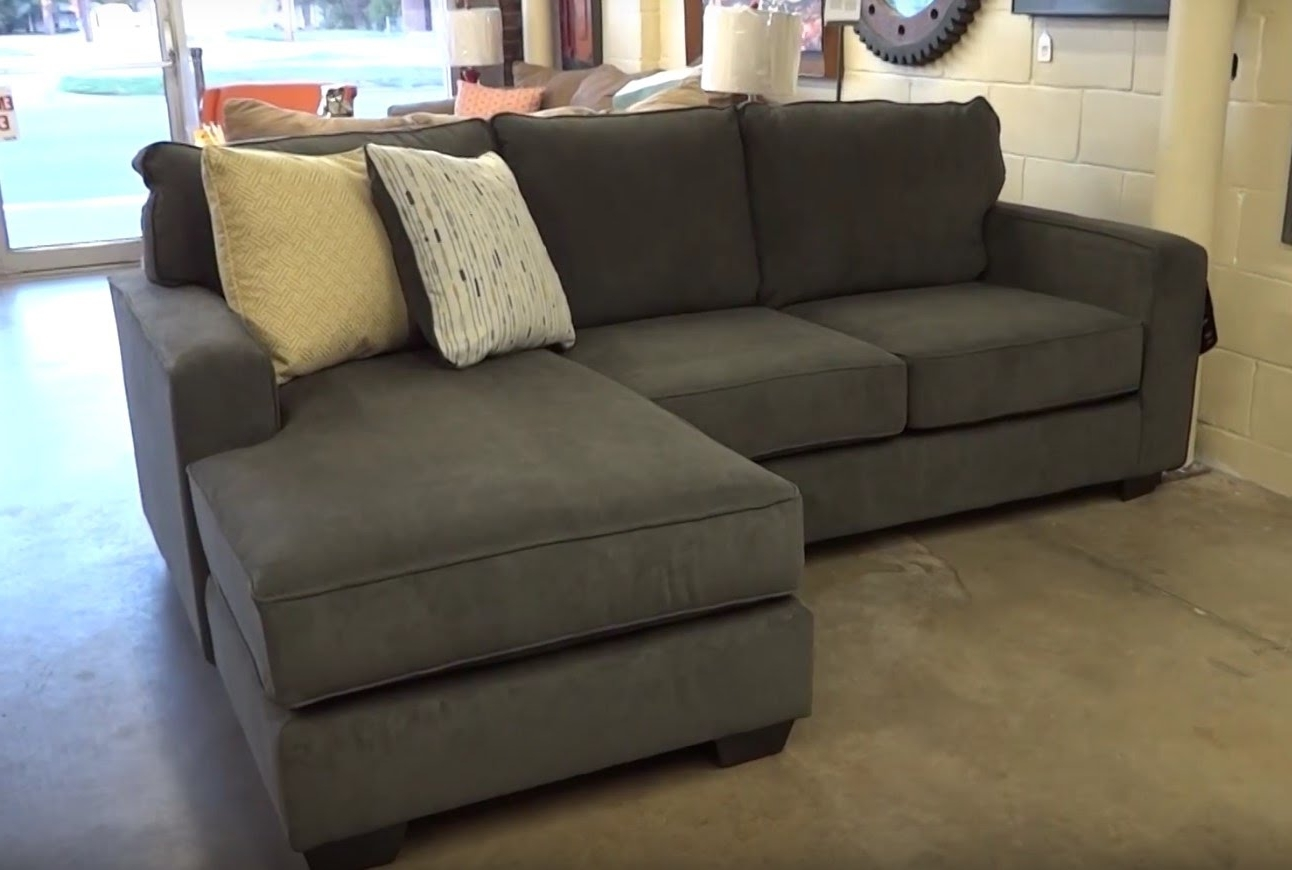 Widely Used Couches With Chaise Lounge Pertaining To Ashley Furniture Hodan Marble Sofa Chaise 797 Review – Youtube (View 15 of 15)