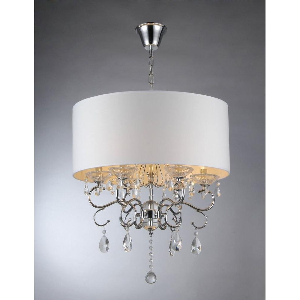 Widely Used Crystal Chrome Chandeliers In Warehouse Of Tiffany Camilla 6 Light Chrome Crystal Chandelier With (View 6 of 15)