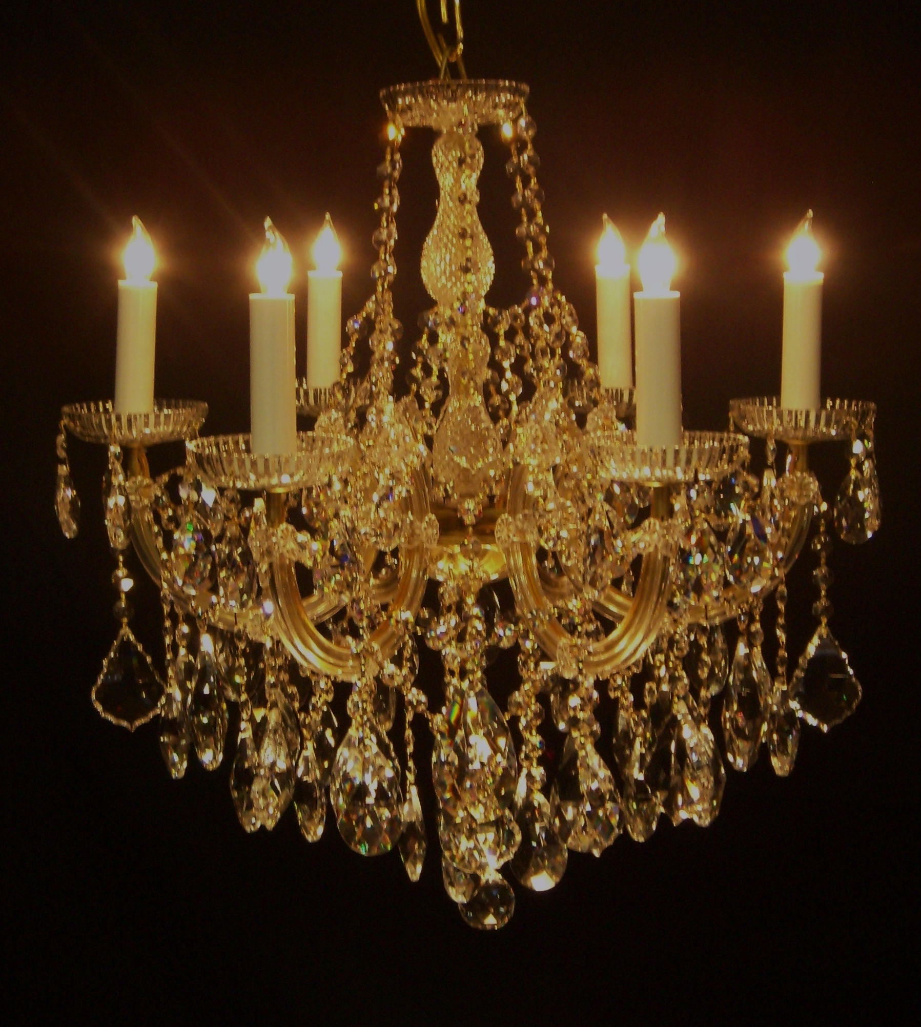 Widely Used Crystal Gold Chandelier Pertaining To Chandelier (View 15 of 15)