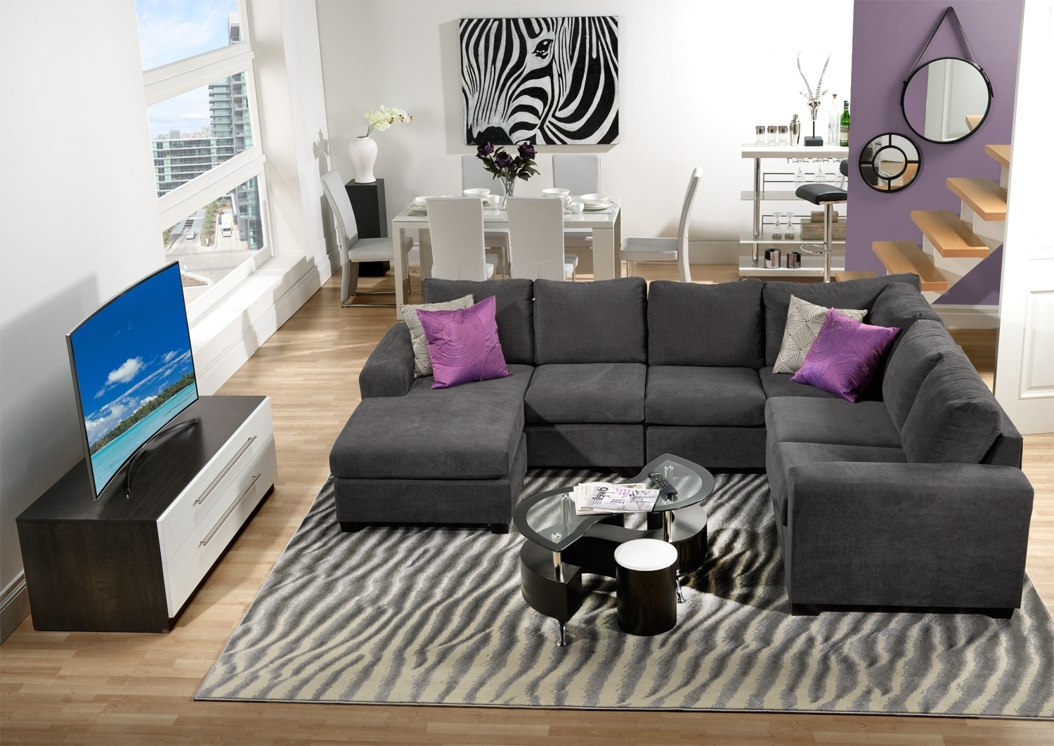 Widely Used Danielle Piece Sectional With Right Facing Corner Wedge Grey With Sectional Sofas At Edmonton (View 4 of 15)