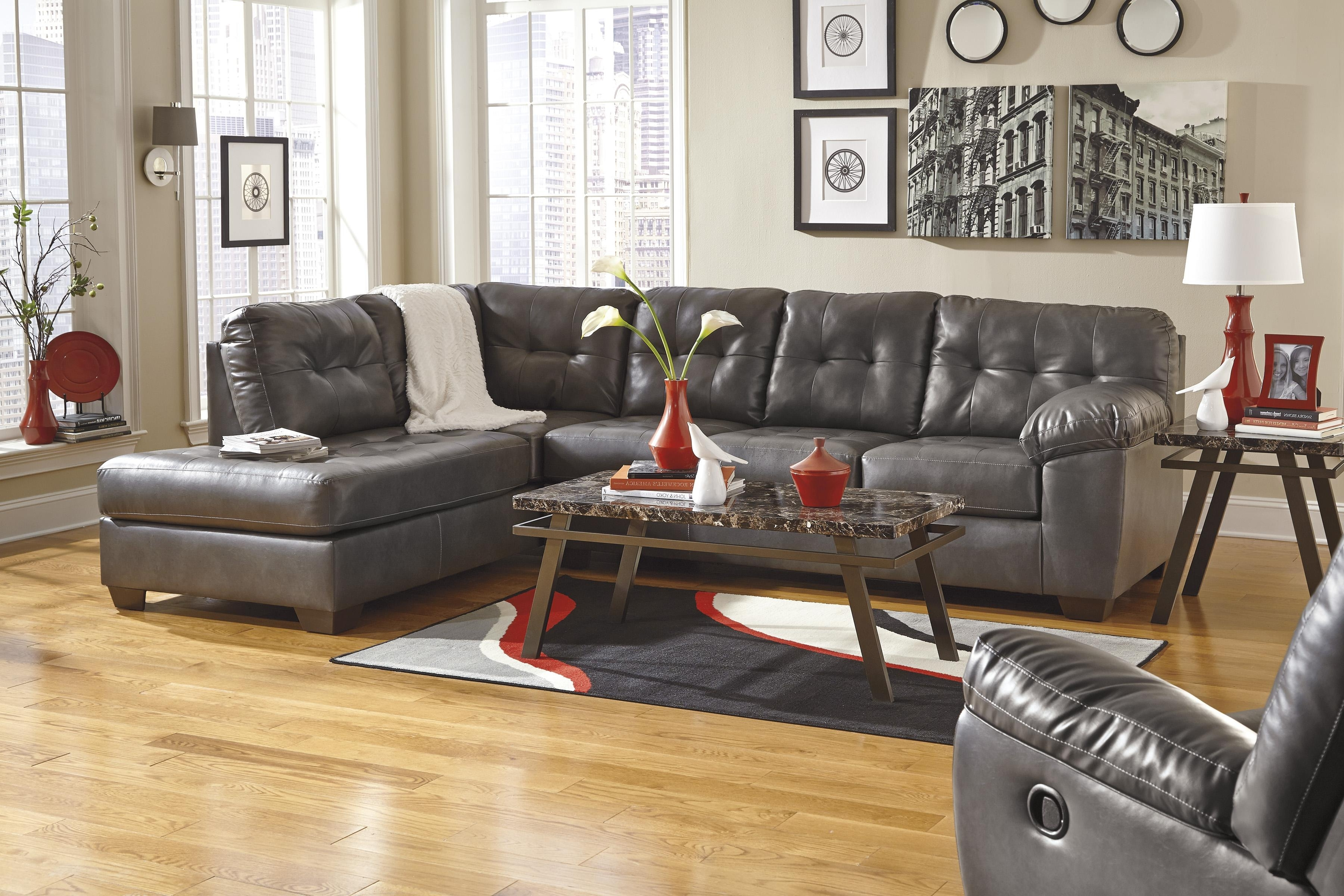 Widely Used Faux Leather Sectional W/ Right Chaise & Tuftingsignature With Regard To Faux Leather Sectional Sofas (View 12 of 15)