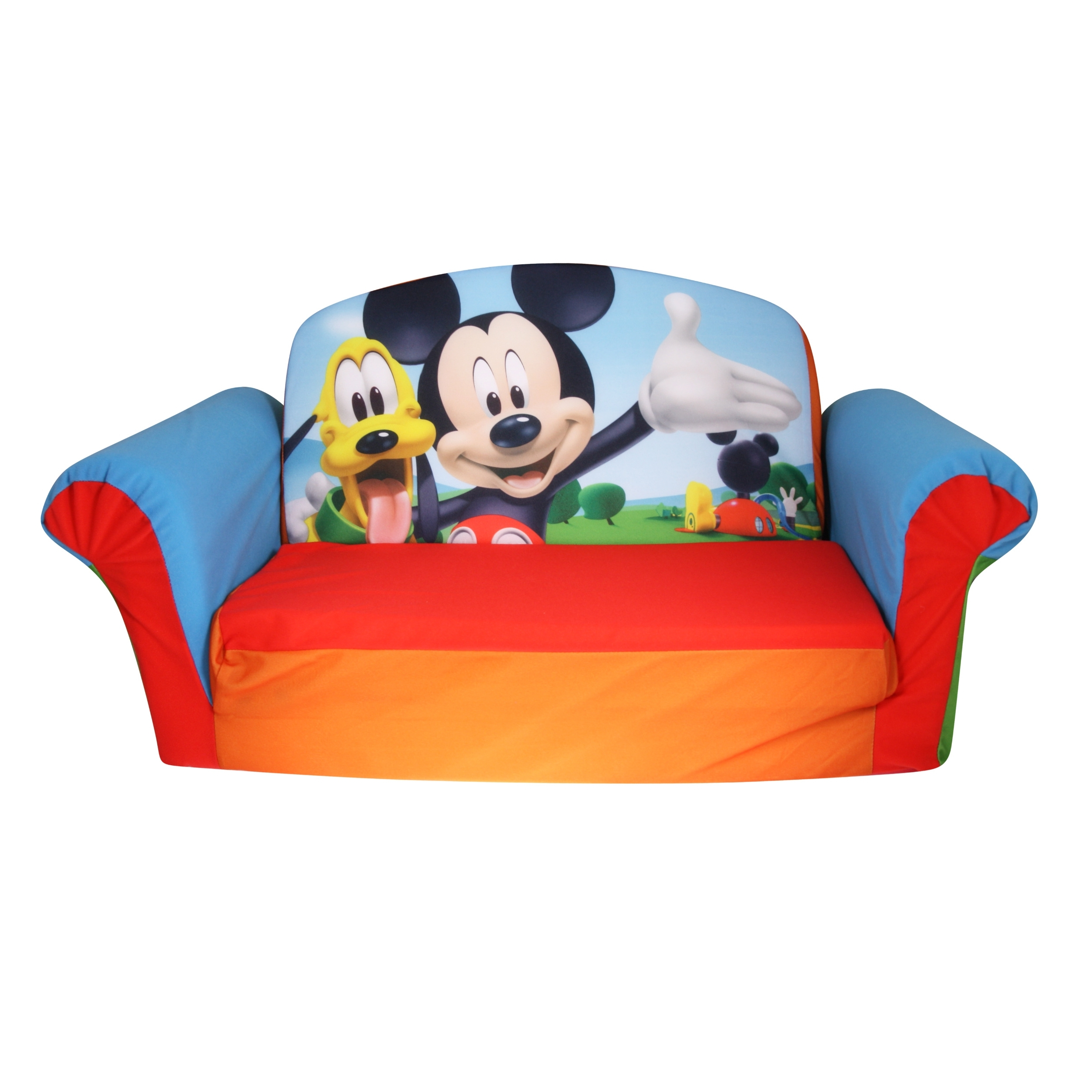 Widely Used Fold Up Sofa Chairs Regarding Disney Mickey Mouse, Toddler 2 In 1 Flip Open Foam Sofa Chair (View 15 of 15)