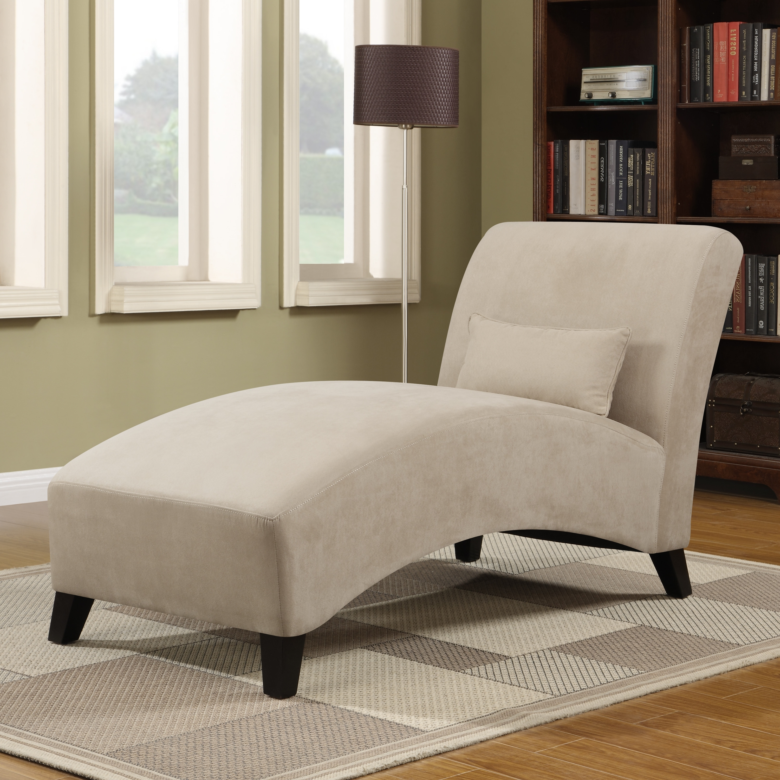Widely Used Furniture: Microfiber Chaise Lounge For Comfortable Sofa Design With Comfy Chaise Lounges (View 3 of 15)