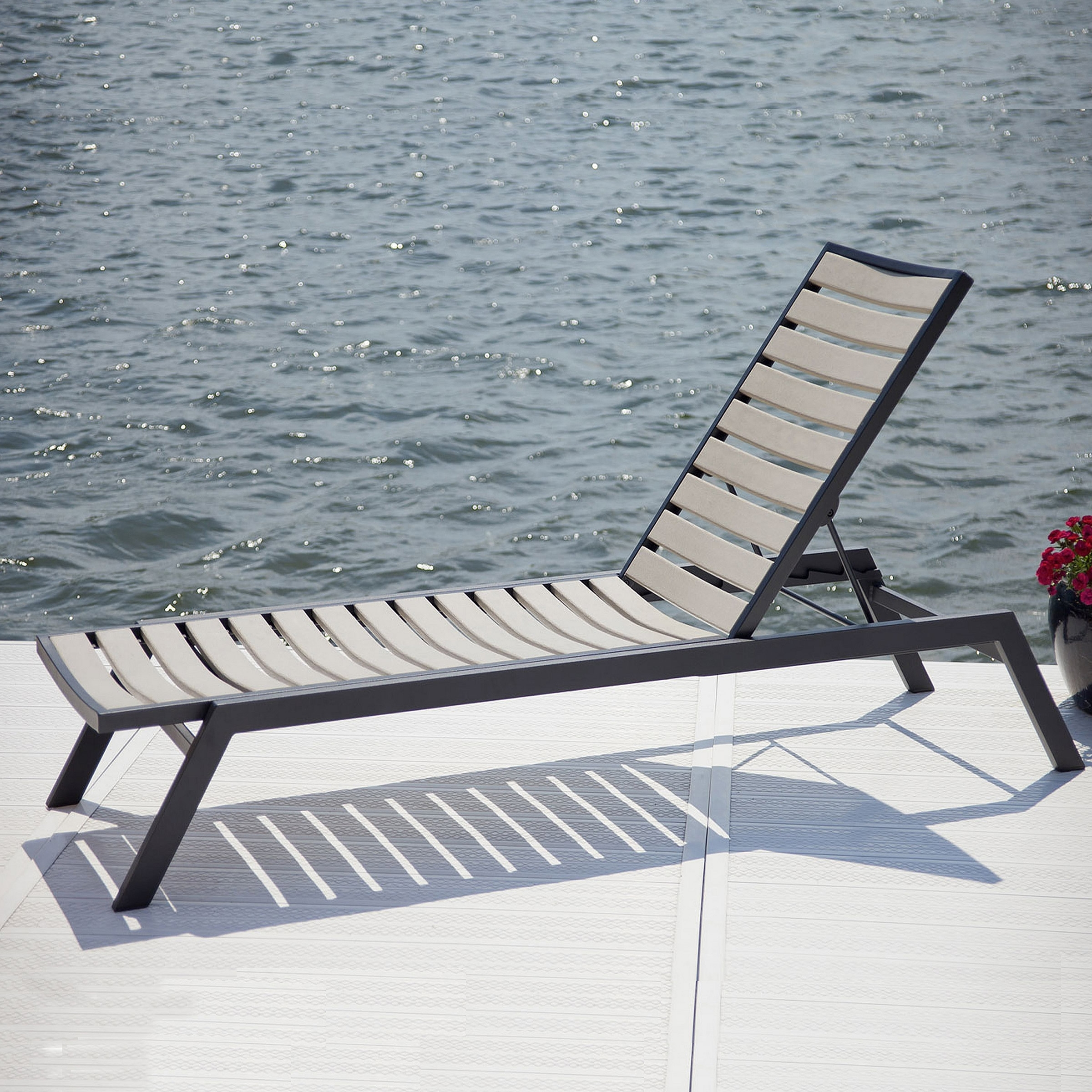Widely Used Hotel Chaise Lounge Chairs Intended For Polywood Euro Chaise Lounge (View 3 of 15)