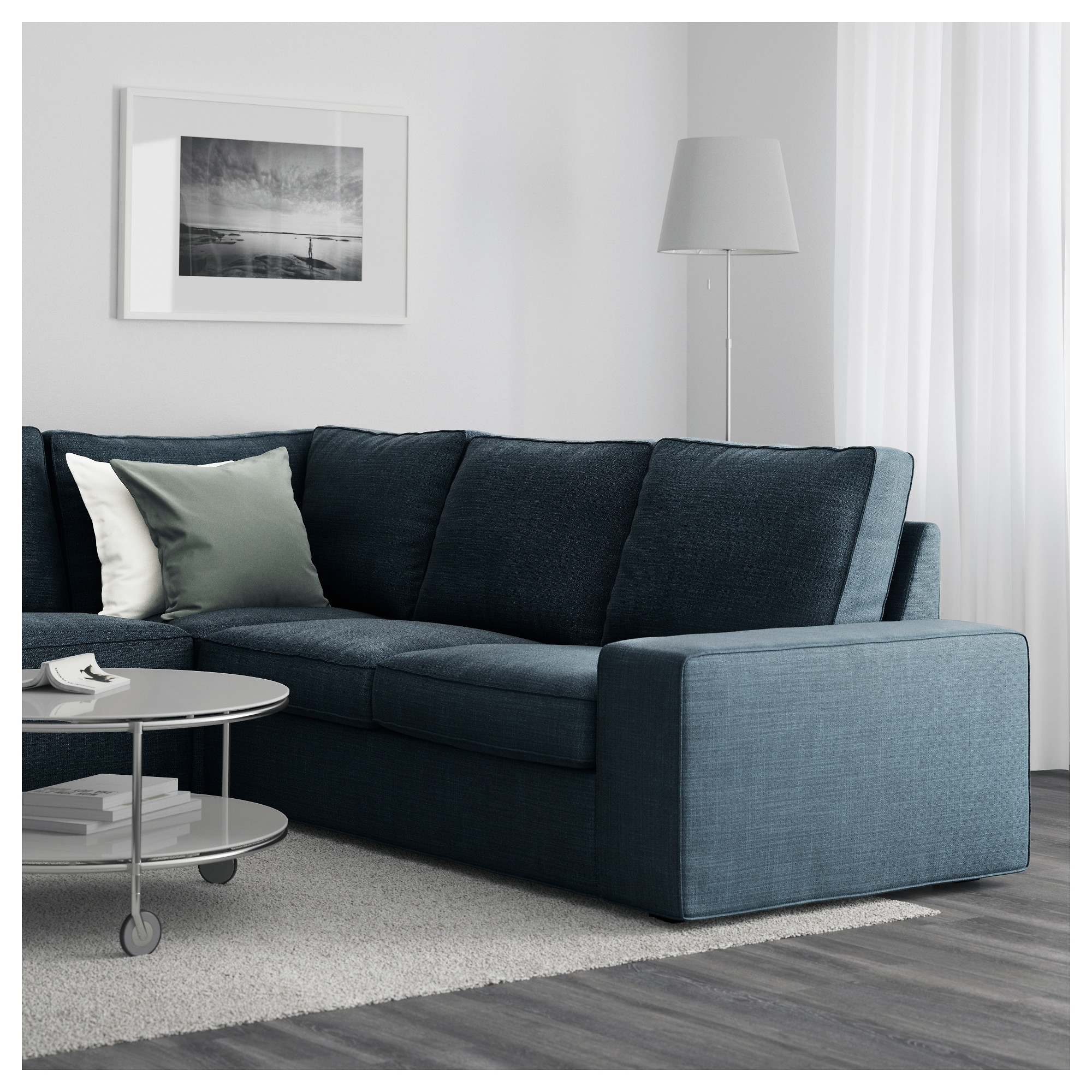 Widely Used Kivik Sectional, 5 Seat Corner – Hillared Dark Blue – Ikea Regarding Ikea Kivik Chaises (View 15 of 15)