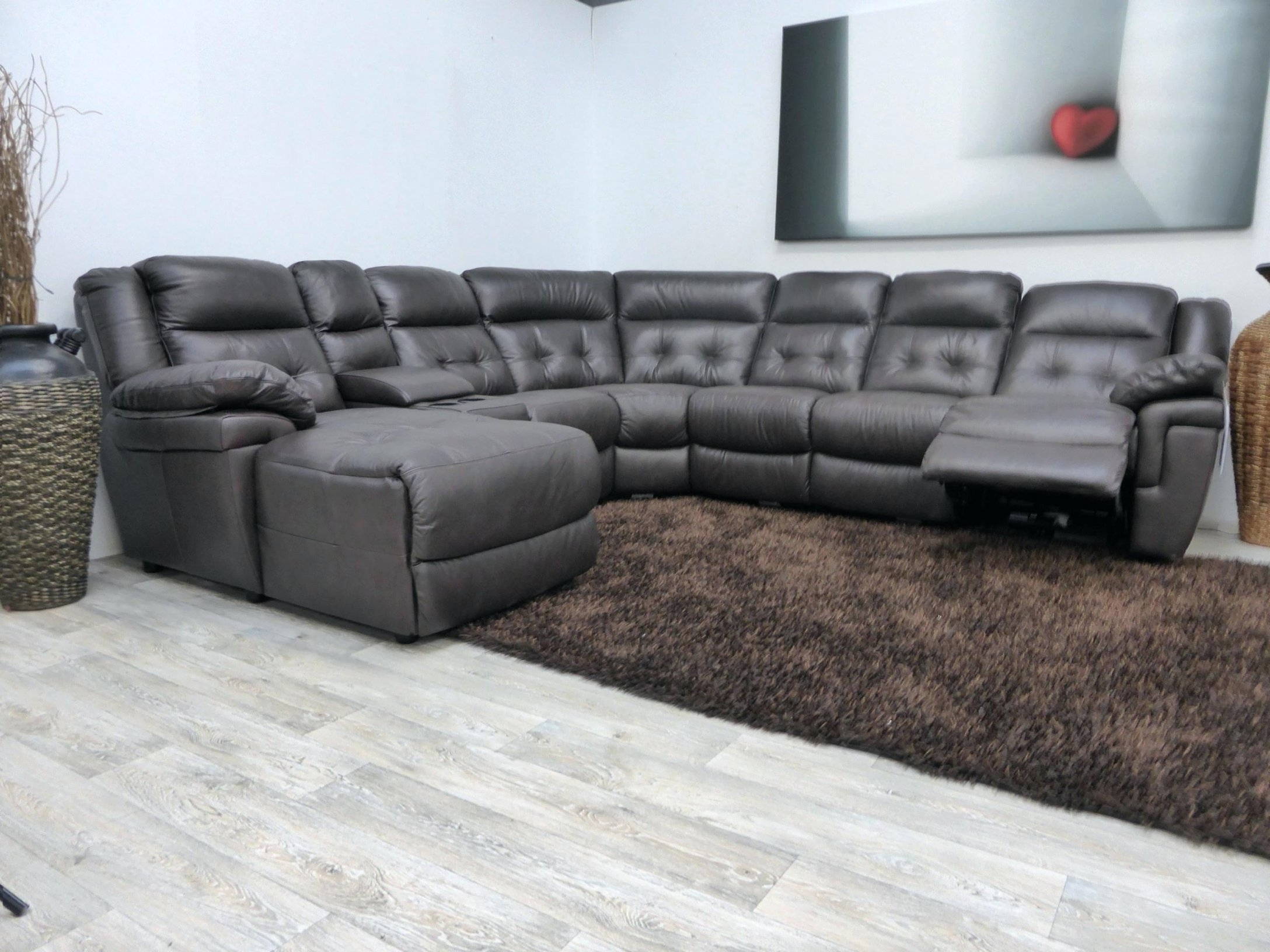 Widely Used Lazy Boy Chaise Lounges Inside 5 Piece Reclining Sectional Sofala Z Boy Lazy Chaise For Lazy Boy (View 10 of 15)
