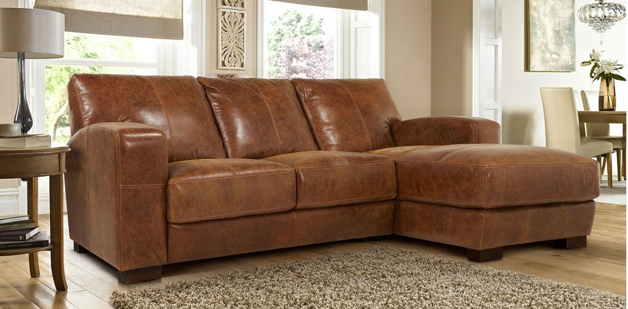 Widely Used Leather Sofas With Chaise Intended For 3 Seater Leather Sofa With Chaise (View 13 of 15)