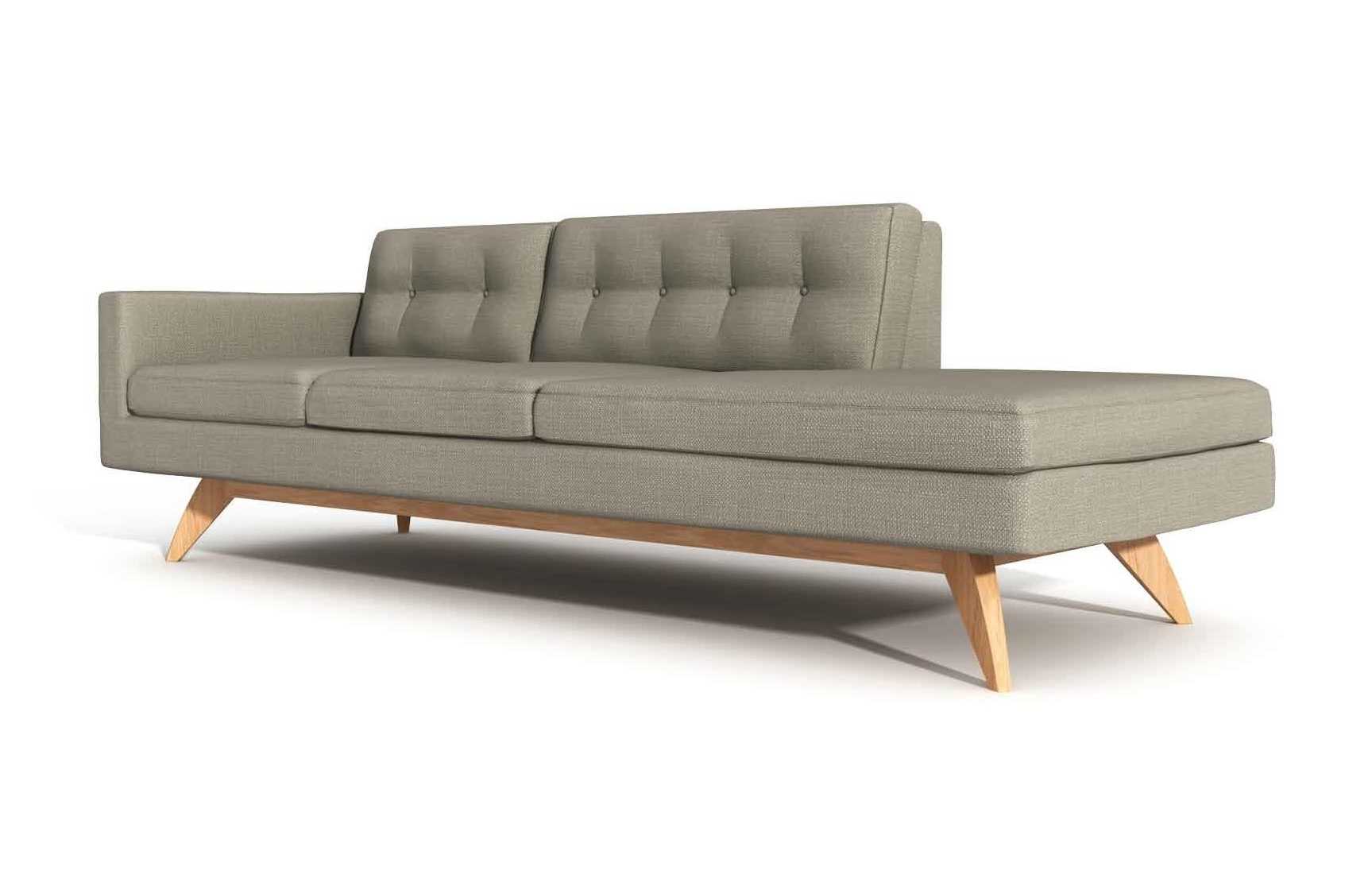 """Widely Used Luna 94"""" One Arm Sofa With Chaise (View 15 of 15)"""