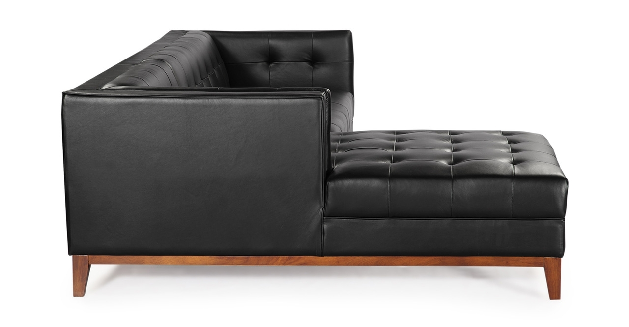 Widely Used Mid Century Modern Harrison Chaise Sectional Leather Or Fabric With Mid Century Modern Chaises (View 15 of 15)