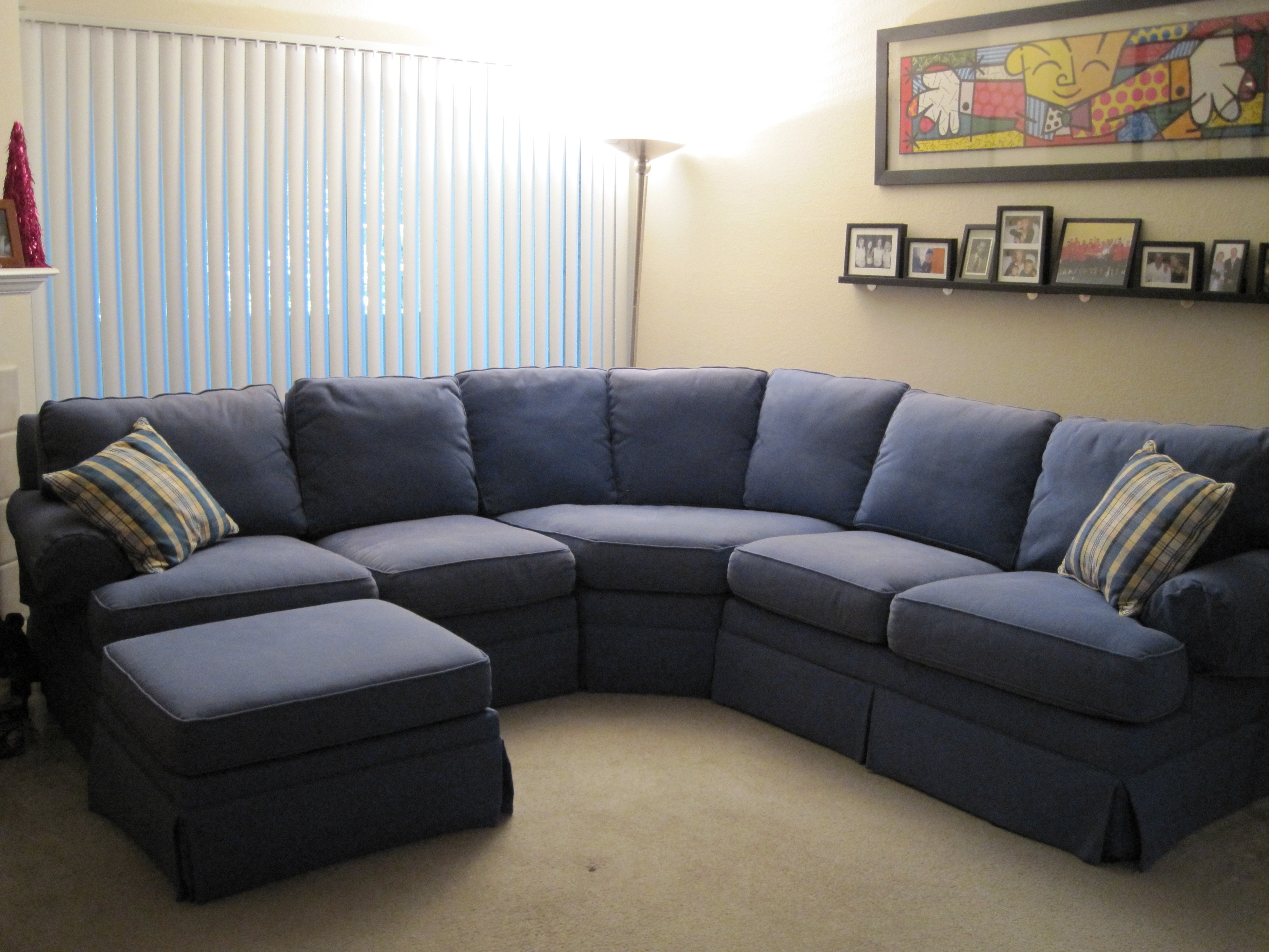 Widely Used Navy Blue Sectional Sofa Inspirational Leather With Additional Regarding Sectional Sofas In Stock (View 15 of 15)