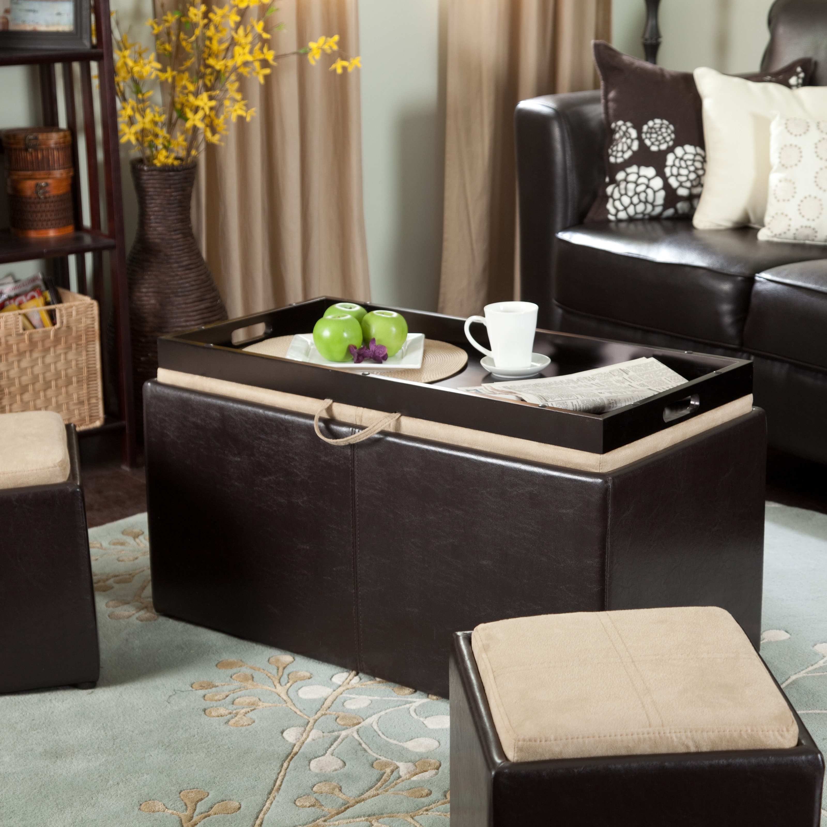 Widely Used Ottomans With Tray Inside Storage Ottoman Tray (View 13 of 15)