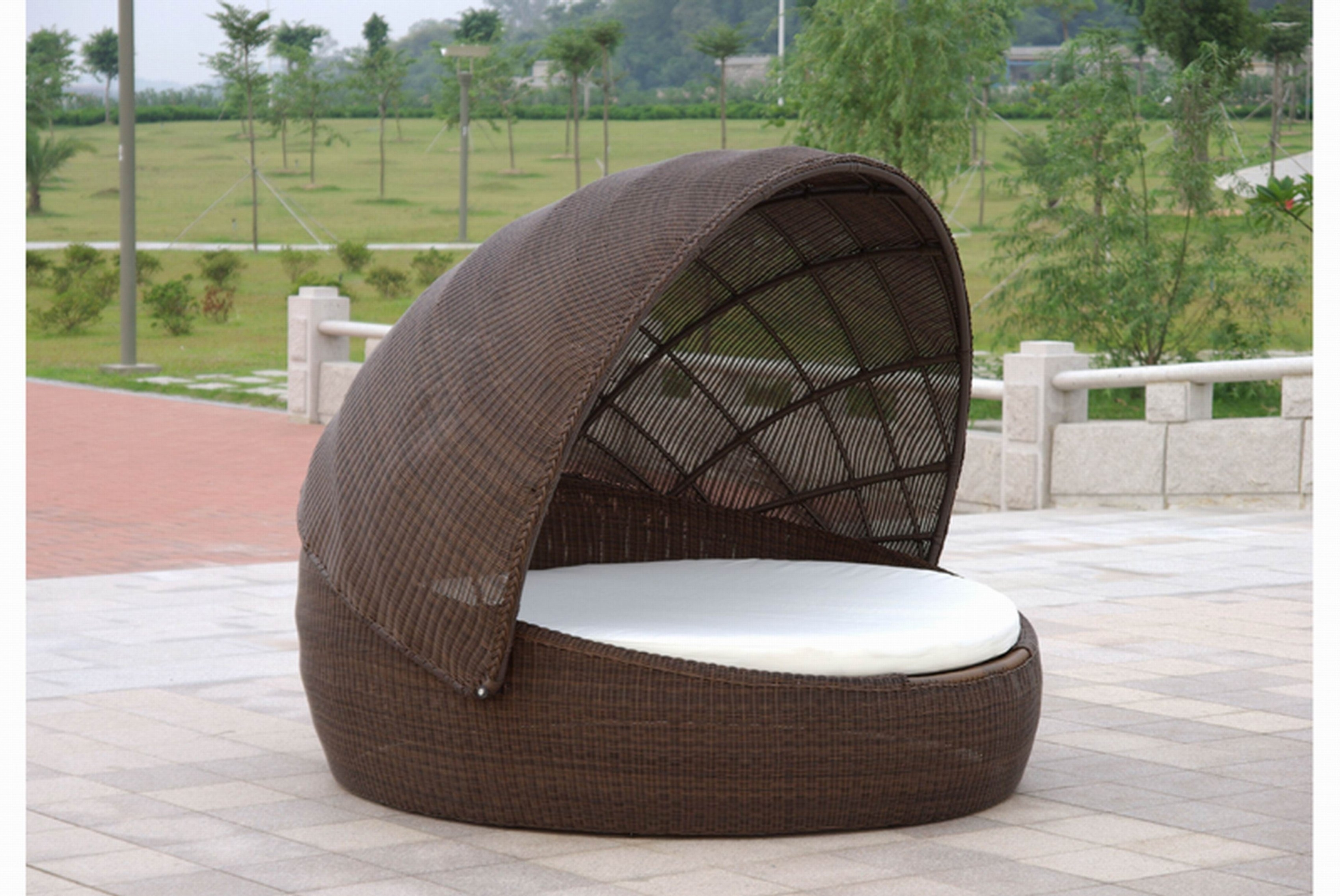 Widely Used Outdoor Sofas With Canopy Within Chaise Lounge Outdoor With Canopy With Canopy Of And Brown (View 15 of 15)