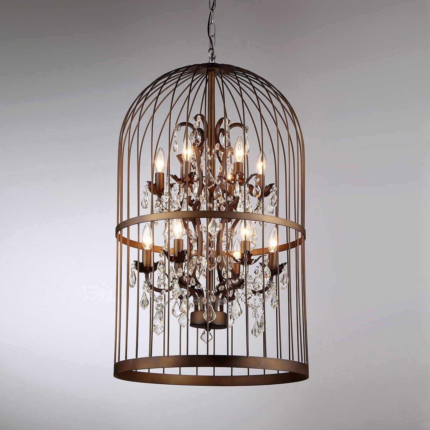 Widely Used Rinee Cage Chandelier – Free Shipping Today – Overstock – 16585997 Within Cage Chandeliers (View 15 of 15)