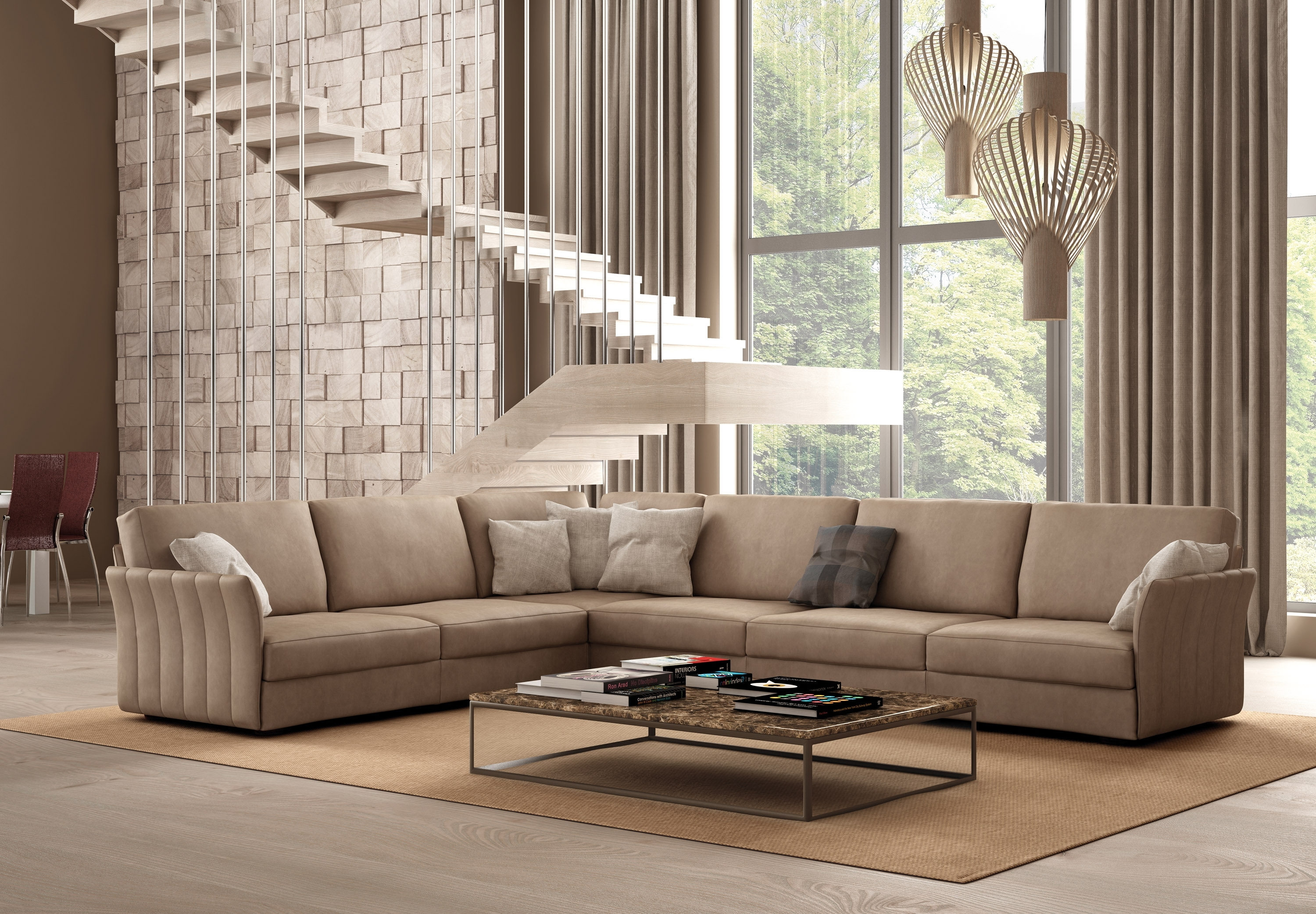 Widely Used Sectional Sofas With High Backs In Italian Sectional Sofa Set In Luxury Leather Fort Worth Texas Idp (View 11 of 15)