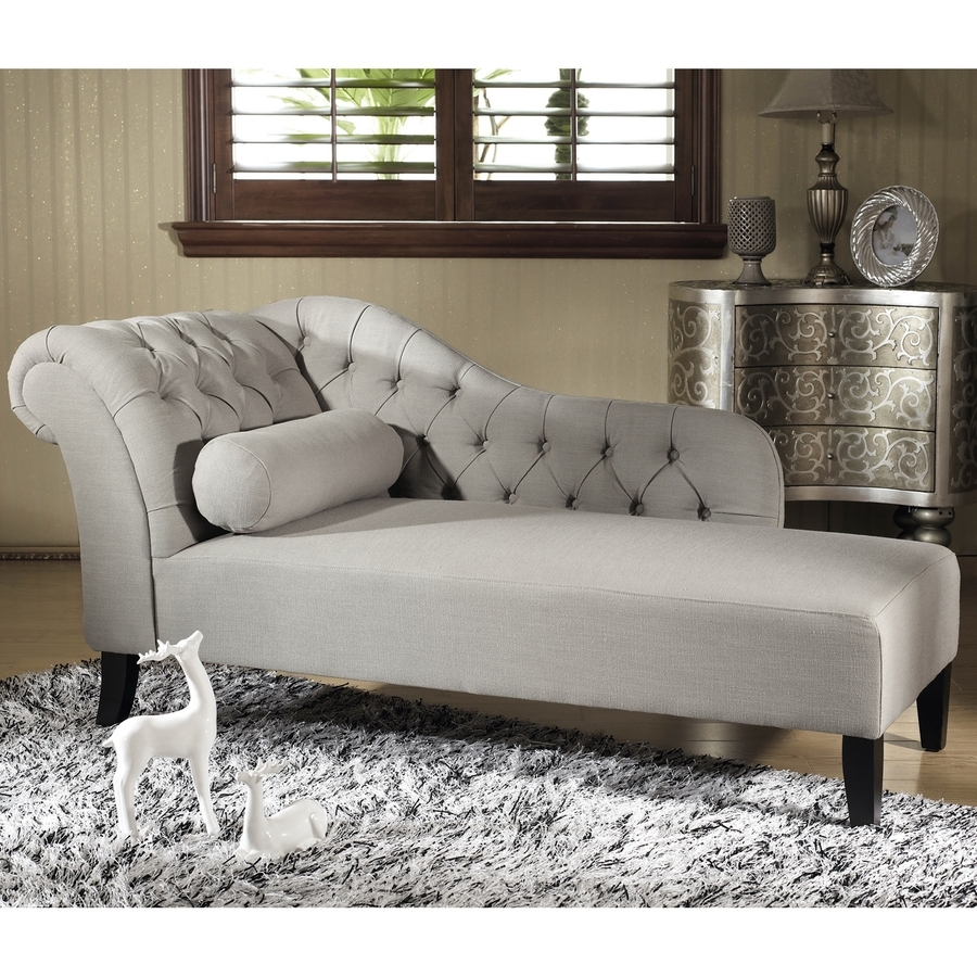Widely Used Shop Baxton Studio Aphrodite Casual Gray Linen Chaise Lounges At In Linen Chaise Lounges (View 6 of 15)