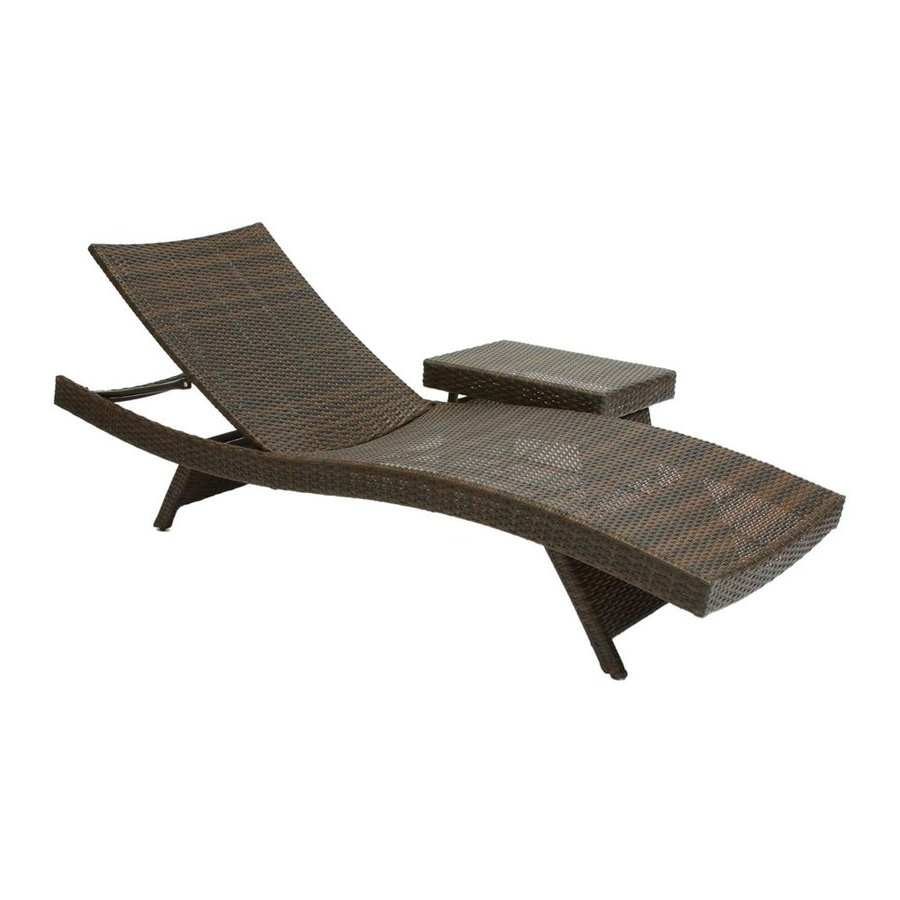 Widely Used Shop Best Selling Home Decor Multi Brown Stackable Folding Patio Intended For Lowes Chaise Lounges (View 12 of 15)