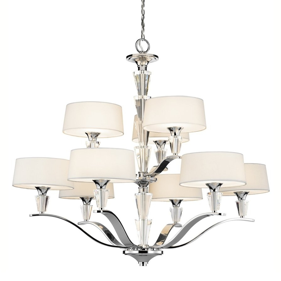 Widely Used Shop Kichler Crystal Persuasion 37 In 9 Light Chrome Crystal For Chrome And Glass Chandeliers (View 12 of 15)