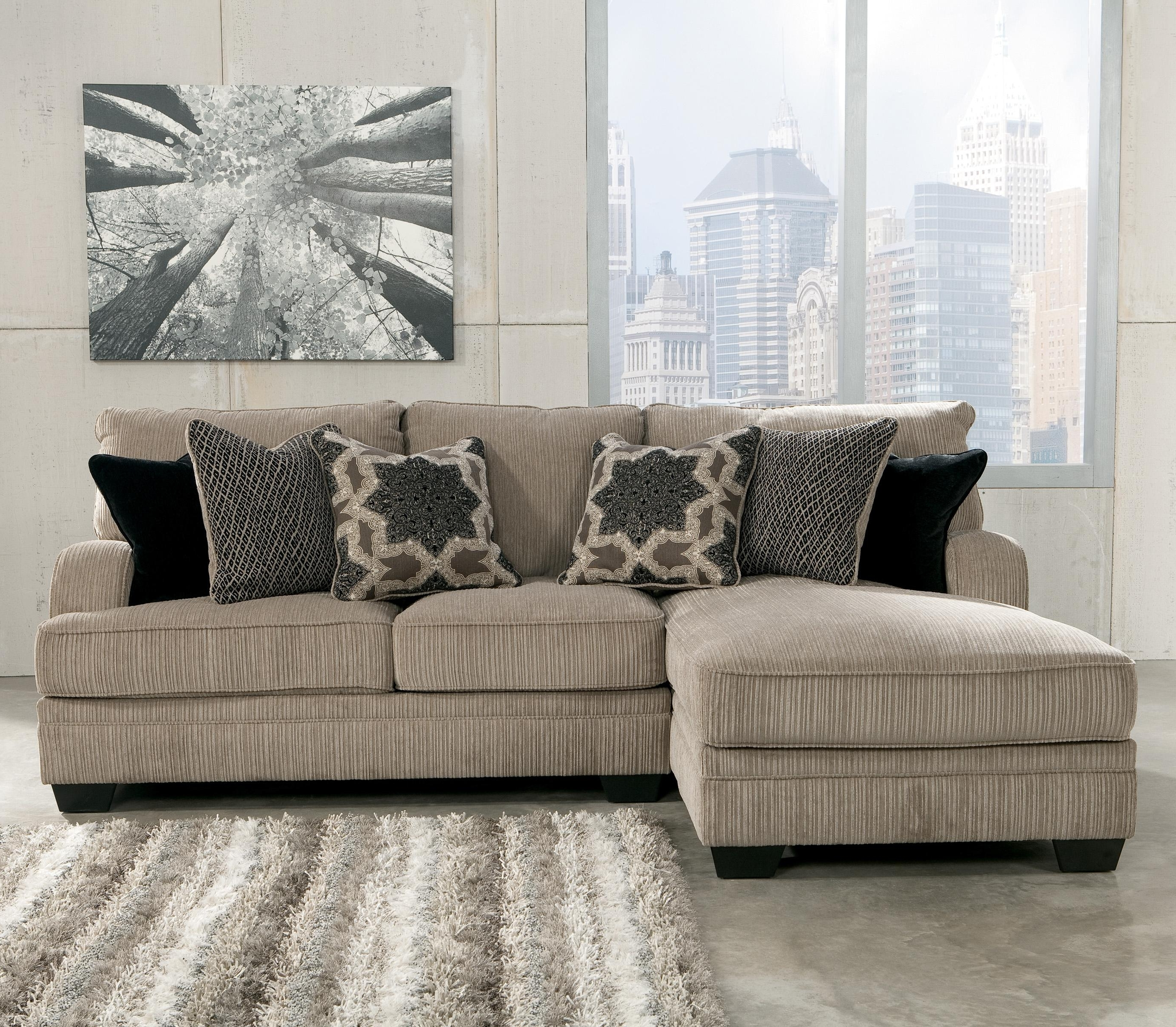 Widely Used Signature Designashley Katisha – Platinum 2 Piece Sectional Within Peterborough Ontario Sectional Sofas (View 15 of 15)