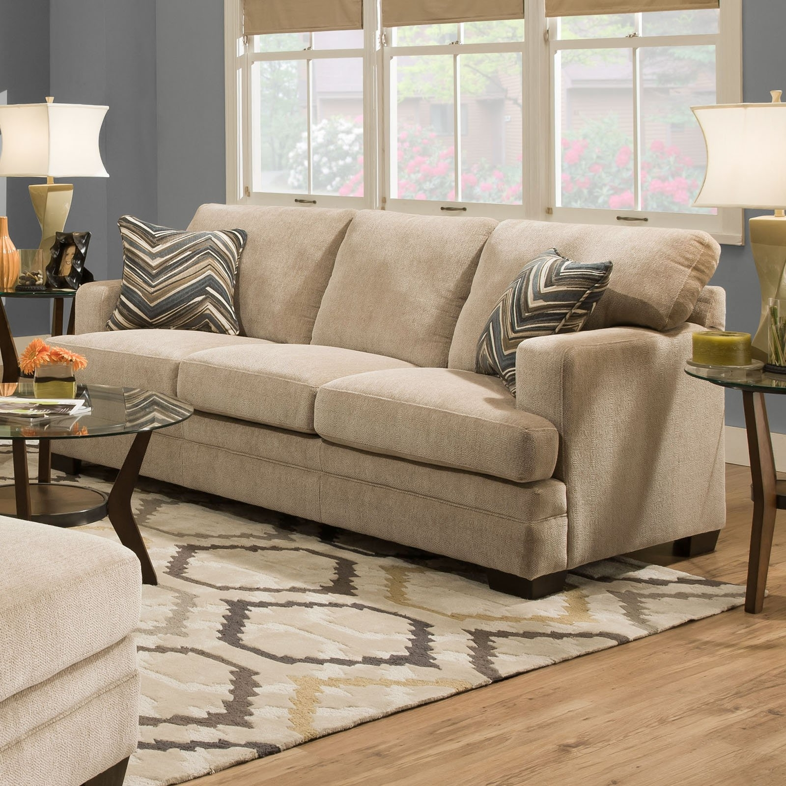 Widely Used Simmons Upholstery Sassy Sofa – Barley – Walmart Within Simmons Chaise Sofas (View 15 of 15)