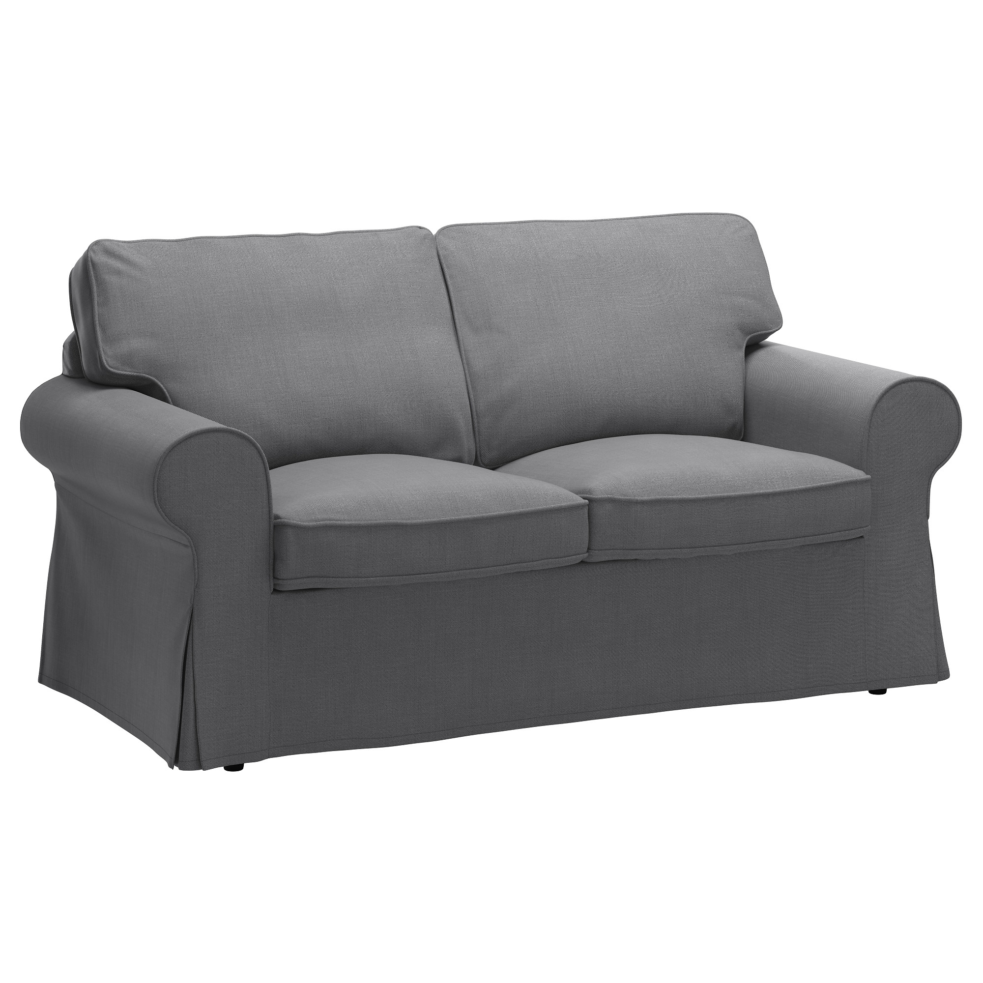 Widely Used Single Seat Sofa Chairs With Ektorp Two Seat Sofa Nordvalla Dark Grey – Ikea (Gallery 5 of 15)