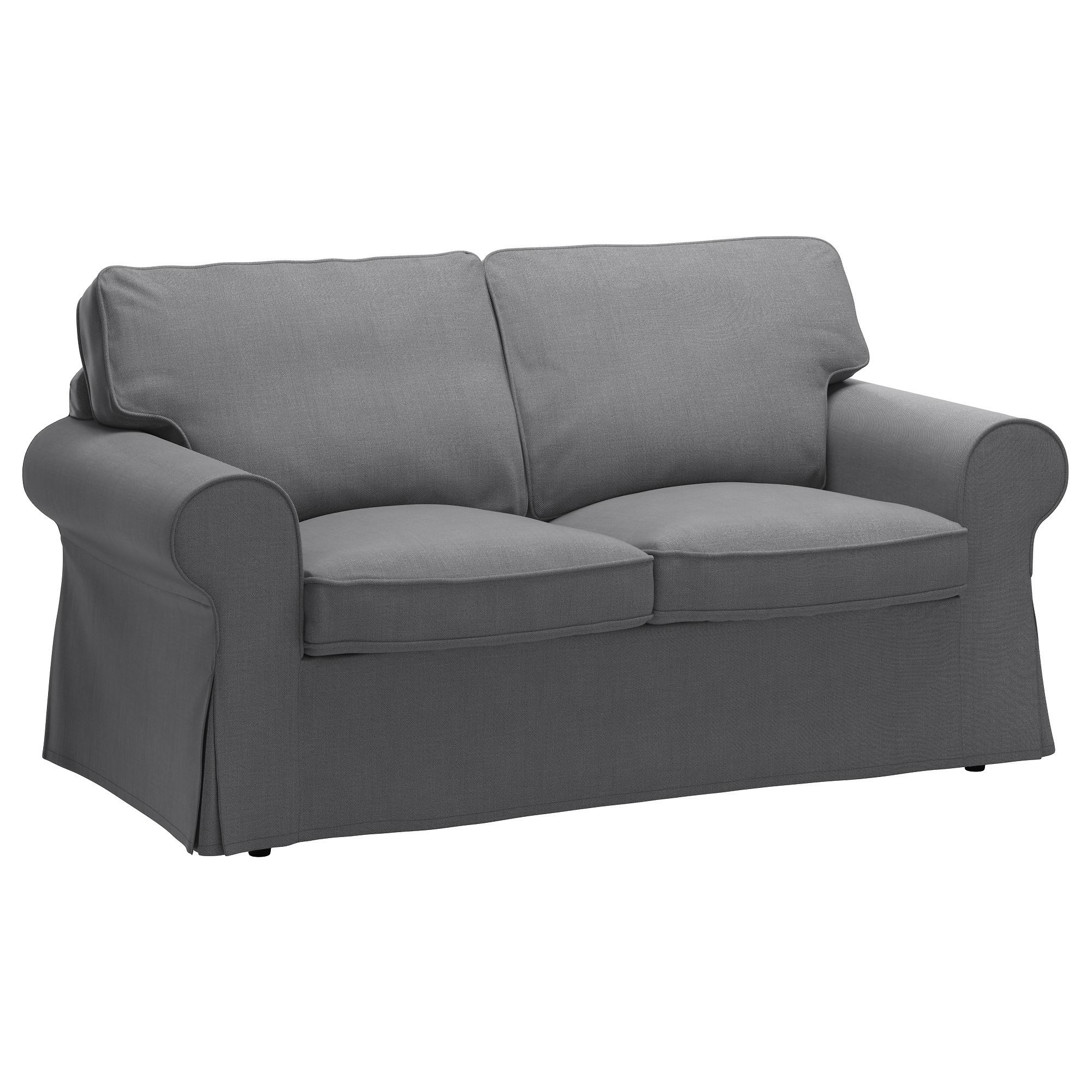Widely Used Single Seat Sofa Chairs With Ektorp Two Seat Sofa Nordvalla Dark Grey – Ikea (View 5 of 15)