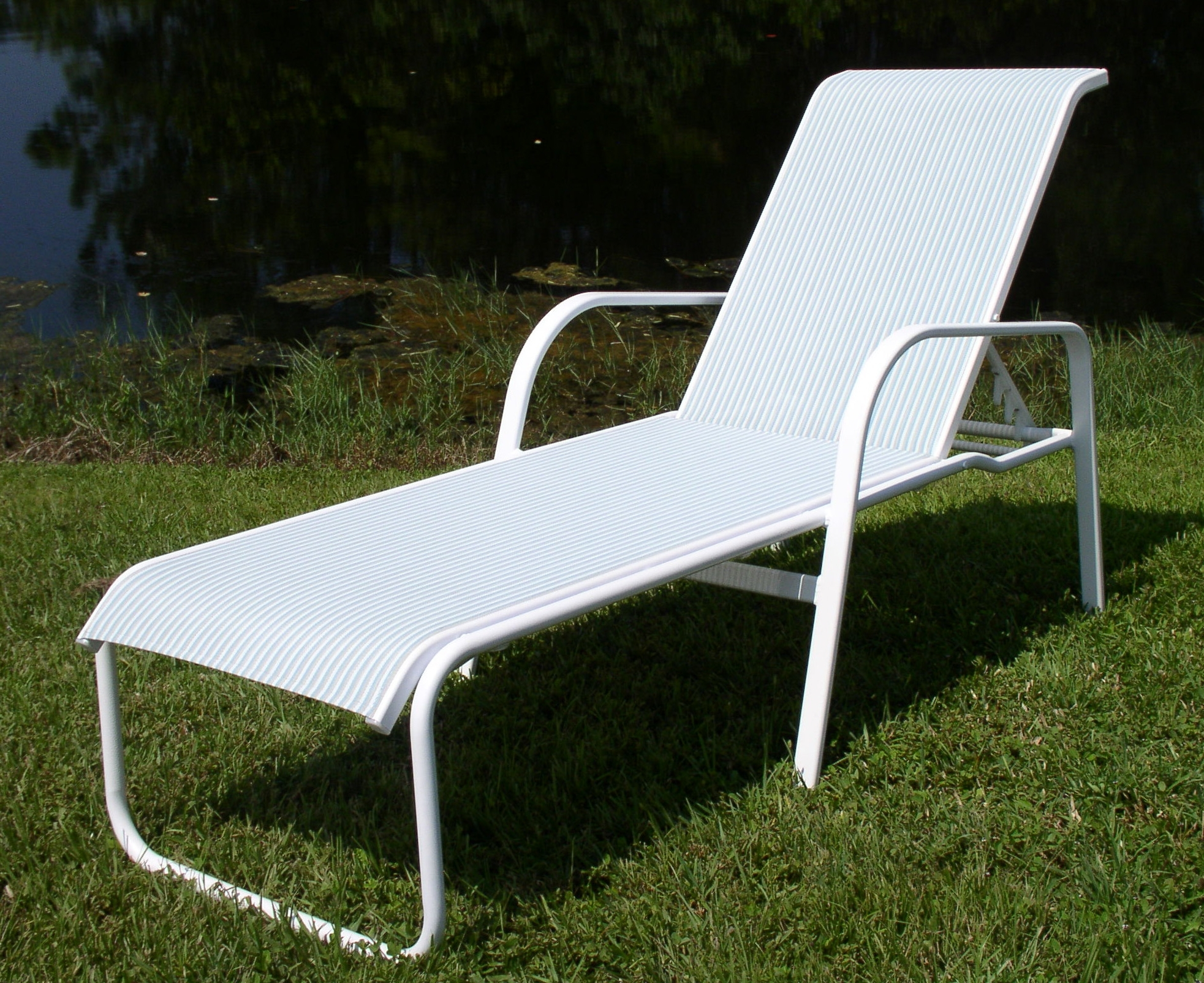 Widely Used Sling Chaise Lounge Chair Attractive Pool Chairs 15 In Seat Ocean Intended For Outdoor Mesh Chaise Lounge Chairs (View 14 of 15)