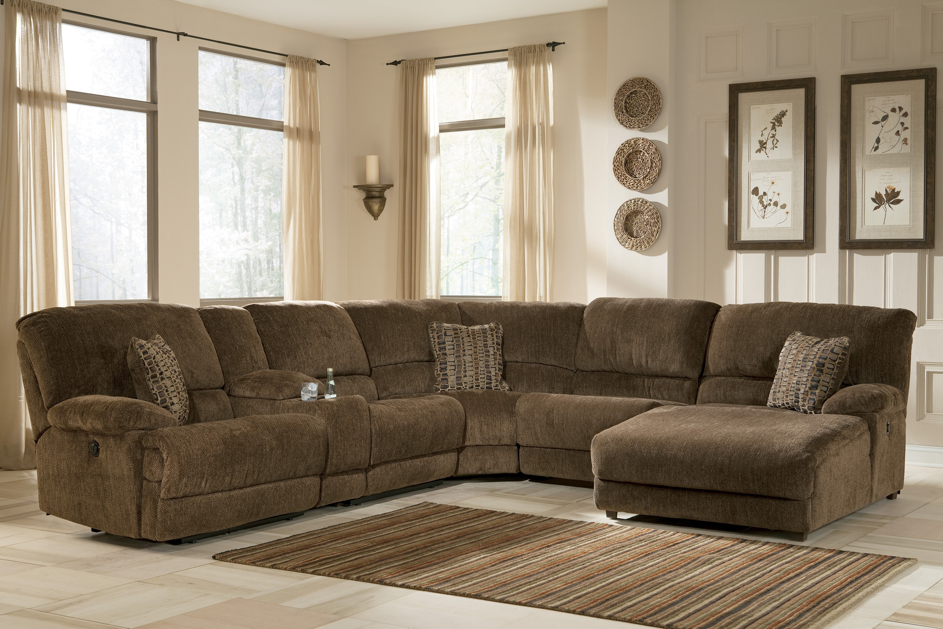Widely Used Small Sectionals For Apartments Apartment Size Sectional Sofa With With Regard To Sectional Couches With Recliner And Chaise (View 15 of 15)