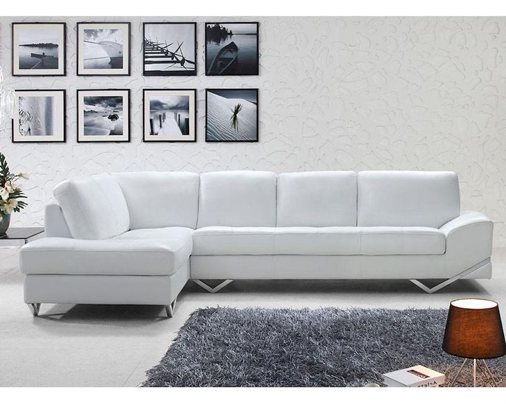 Widely Used Sofa : Amazing Modern White Sofa Set Sectional 44L6064 27 Modern Within White Modern Sofas (View 10 of 15)