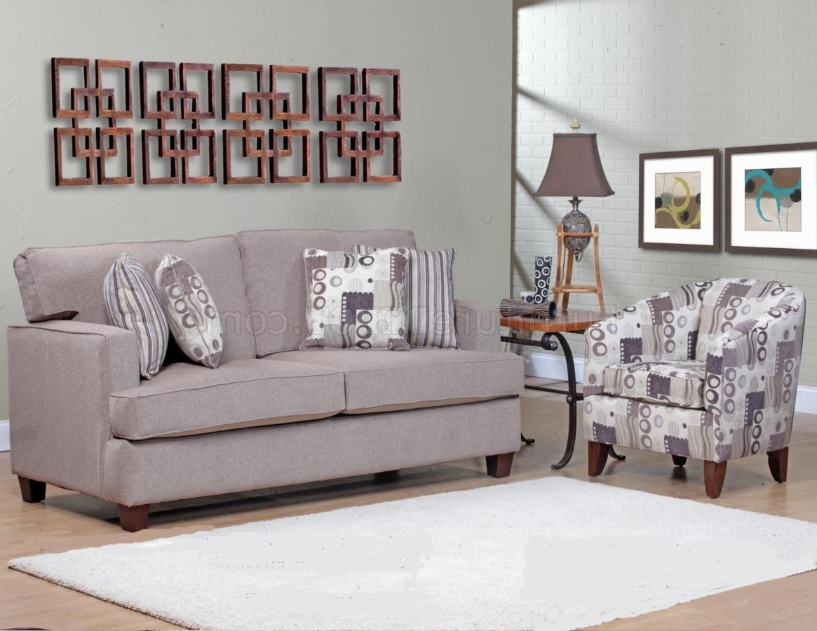 Widely Used Sofa And Accent Chair Sets Inside Beige Fabric Modern Sofa & Accent Chair Set W/options (View 15 of 15)
