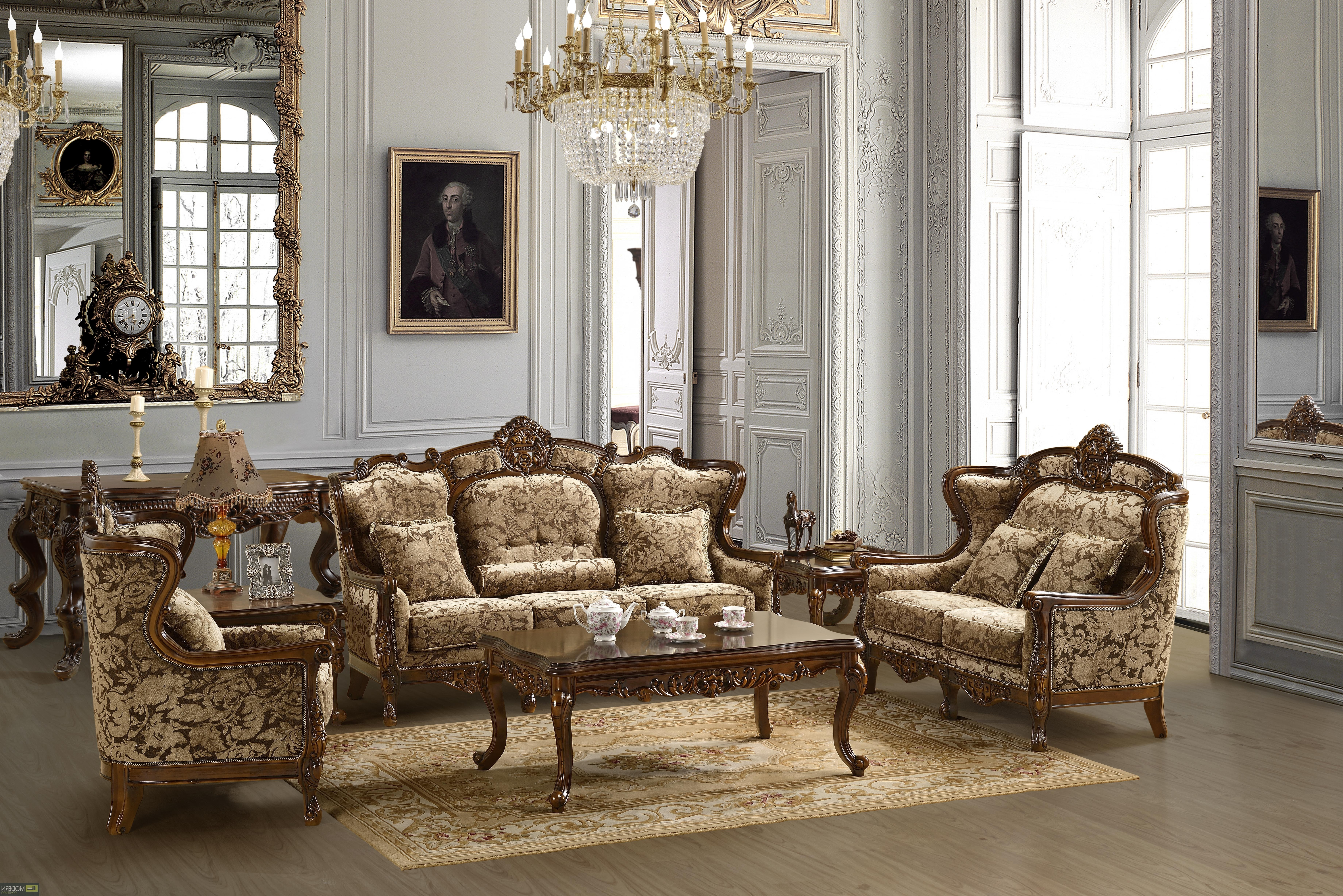 Widely Used Sofa Set Formal Living Room Furniture Mchd839 With Regard To Traditional Sofas And Chairs (View 8 of 15)