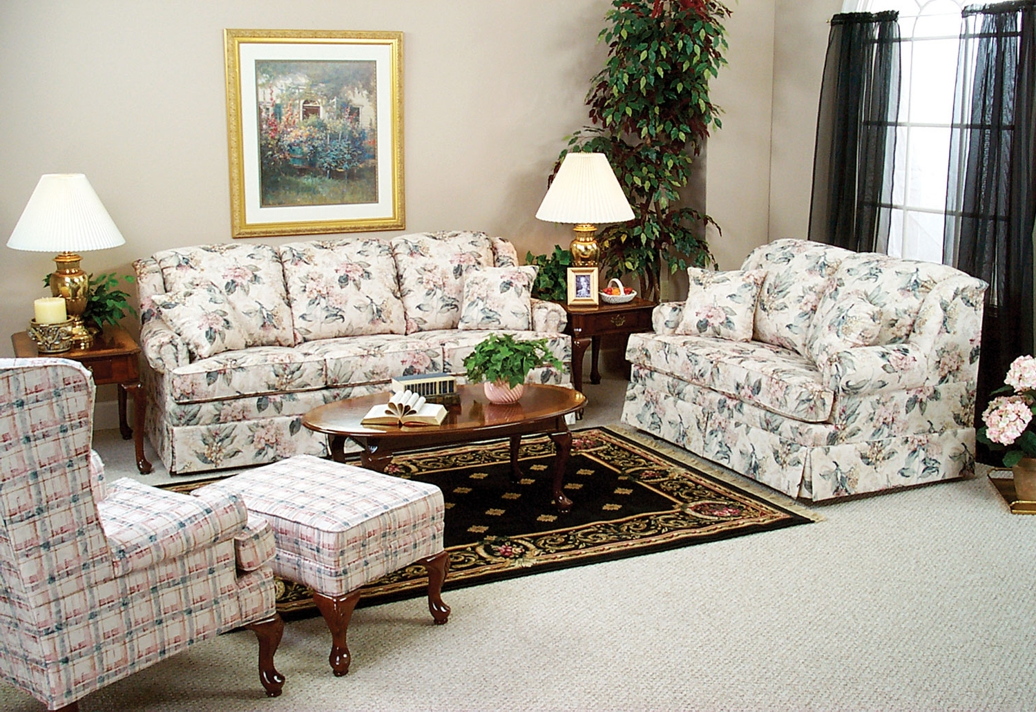 Widely Used Sofia Queen Sleeper Sofa – Floral (View 11 of 15)