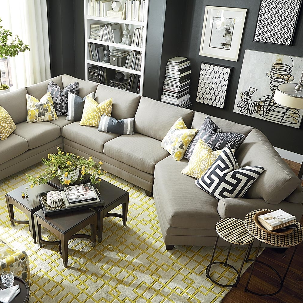 Widely Used Spacious Cu 2 Cuddler L Shaped Sectional Window Pillows And Intended For Sectionals With Cuddler And Chaise (View 12 of 15)
