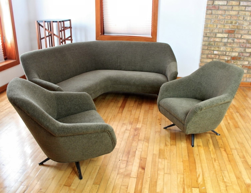 Widely Used Tufted Curved Sectional Sofa — Fabrizio Design : Decorating Living With Regard To Rounded Sofas (View 2 of 15)