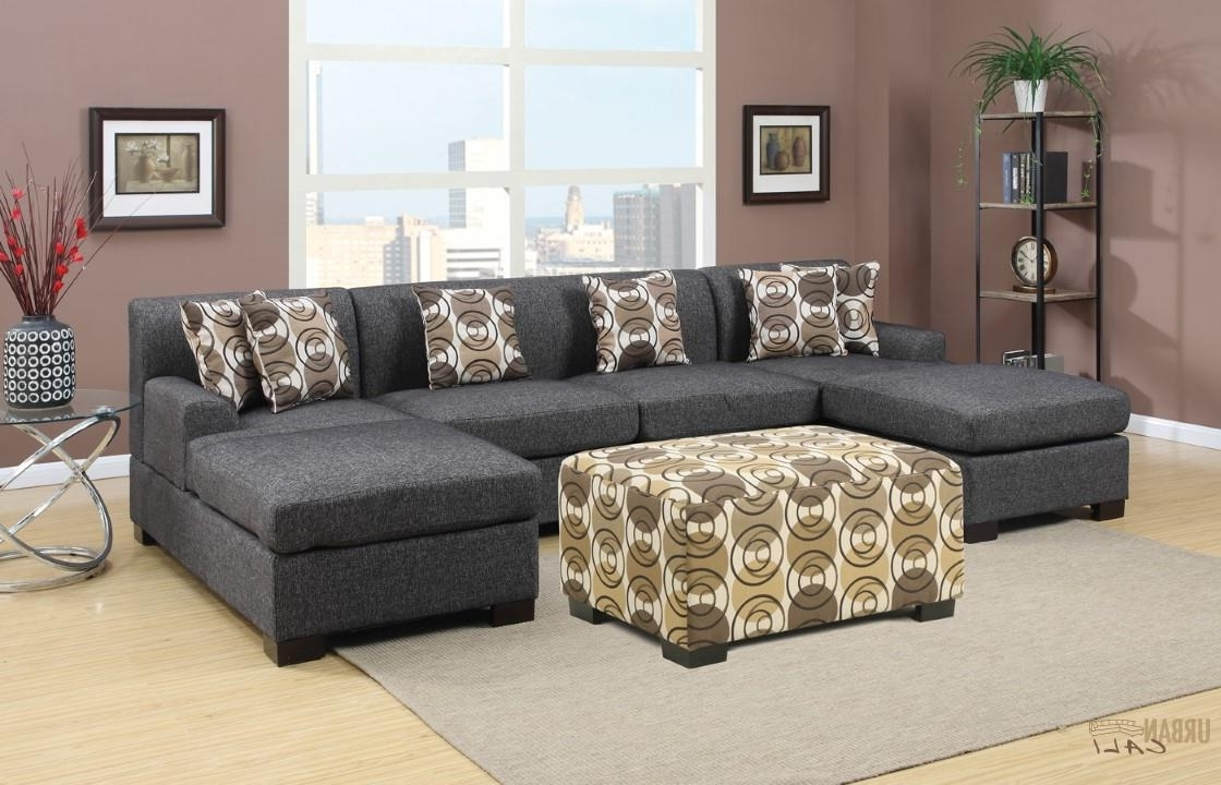 Widely Used U Shaped Sectional Sofas For Furniture: Hayward Ash Black Small U Shaped Sectional Sofa Set (View 15 of 15)