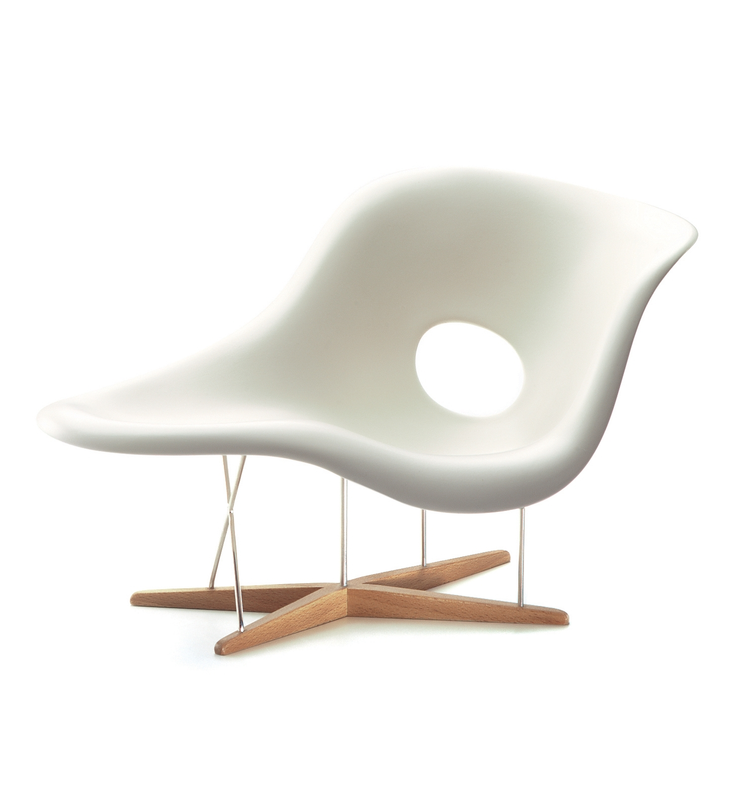 Widely used Une Chaise Lounges throughout Vitra La Chaise Loungestoel Eiken, Staal, Polyurethaan, Wit