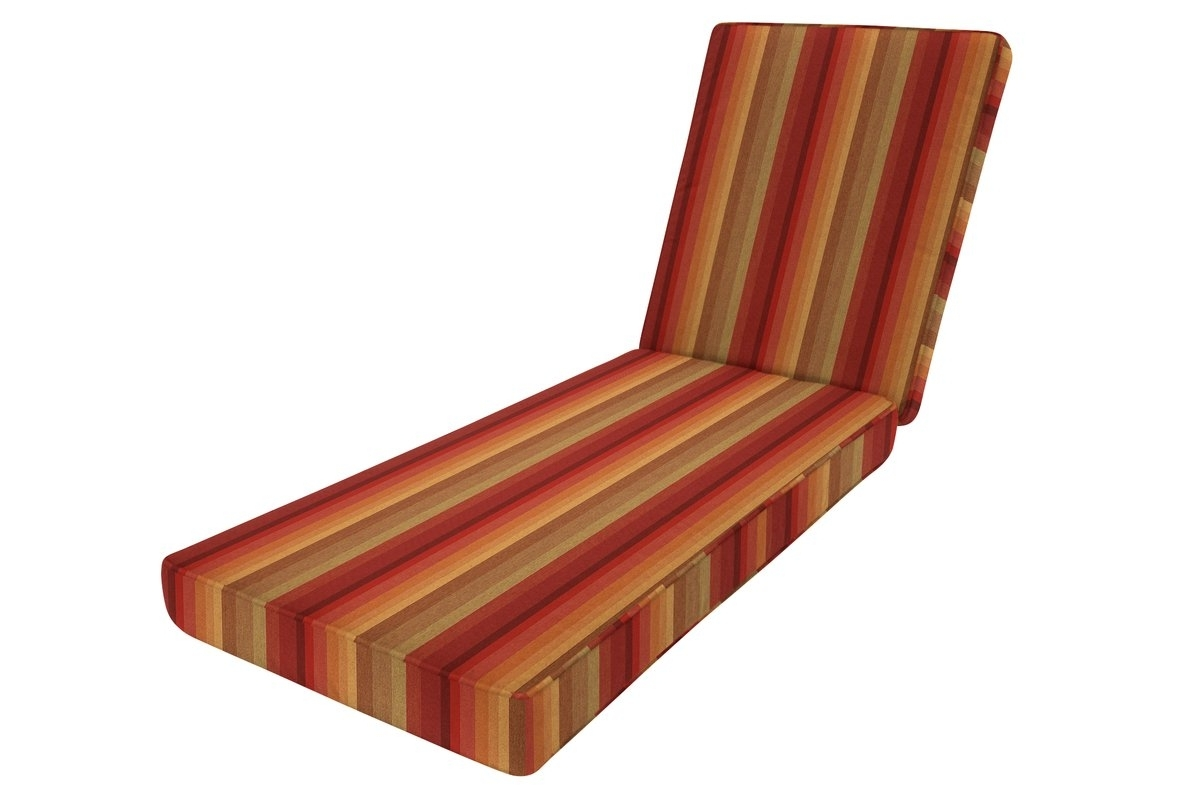 Widely Used Wayfair Custom Outdoor Cushions Double Piped Outdoor Sunbrella Within Chaise Lounge Cushions (View 15 of 15)