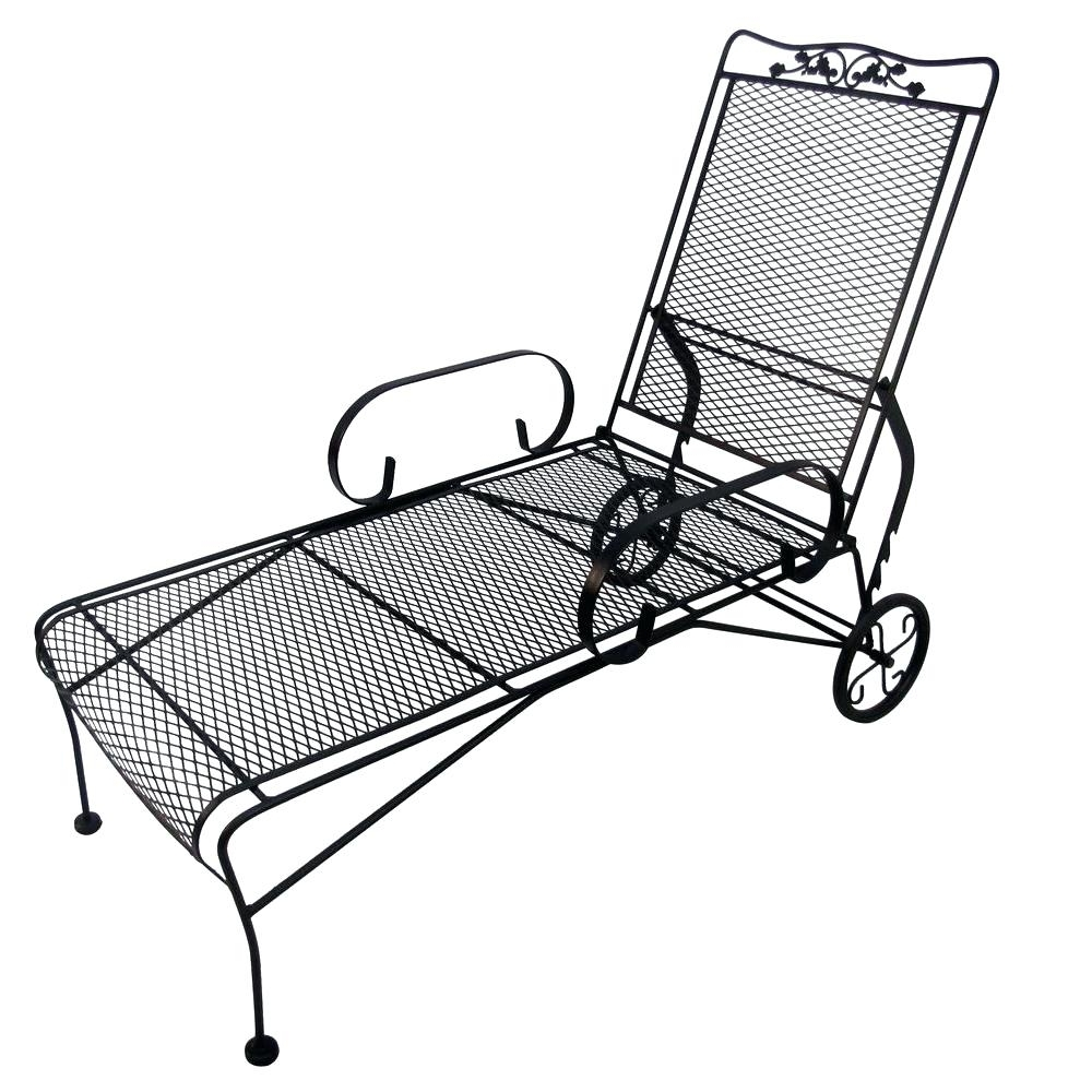 Widely Used Wrought Iron Chaise Lounge Chairs – Visionexchange (View 15 of 15)
