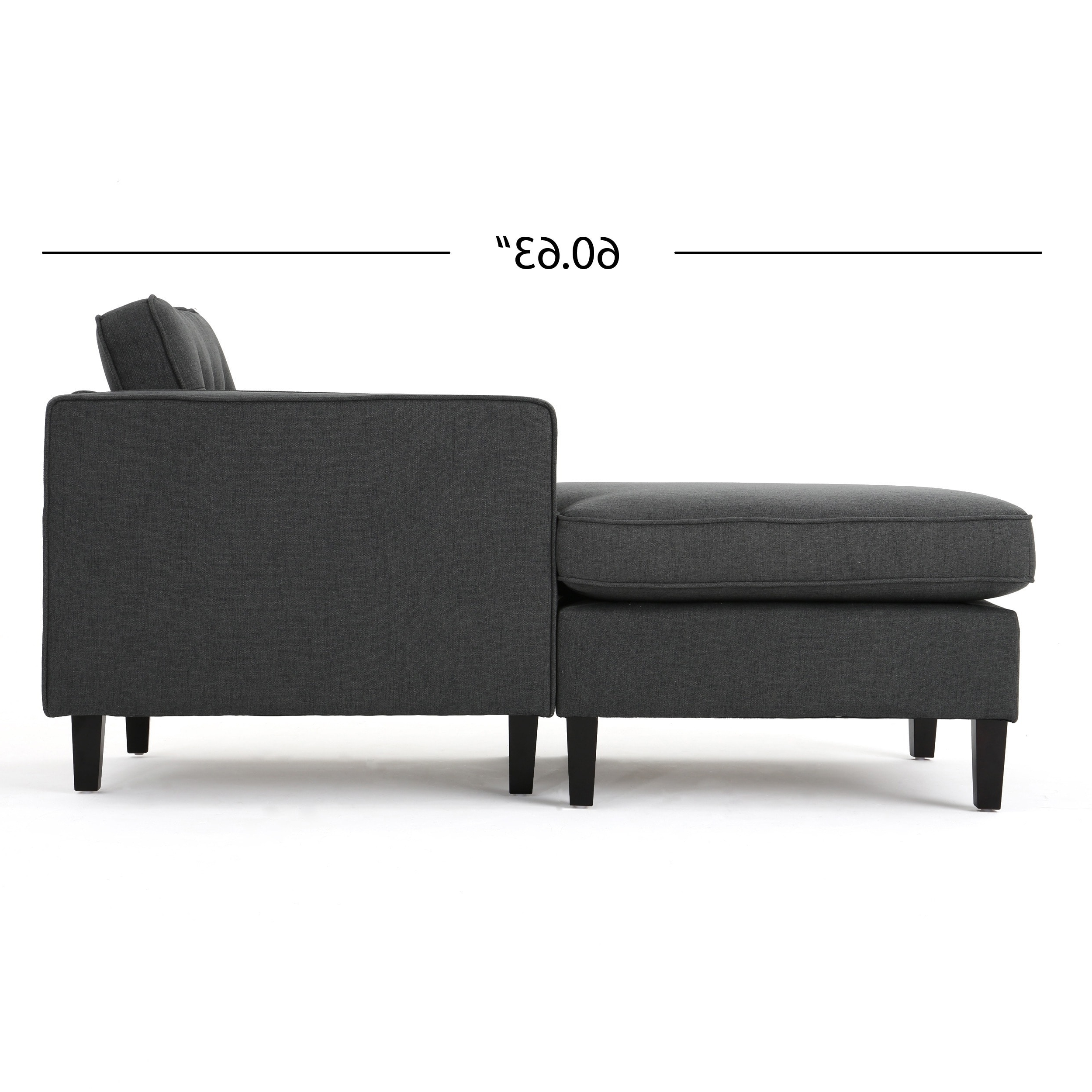 Wilder Mid Century Modern 2 Piece Fabric Chaise Sectional Sofa Regarding Widely Used Cheap Chaise Sofas (View 15 of 15)