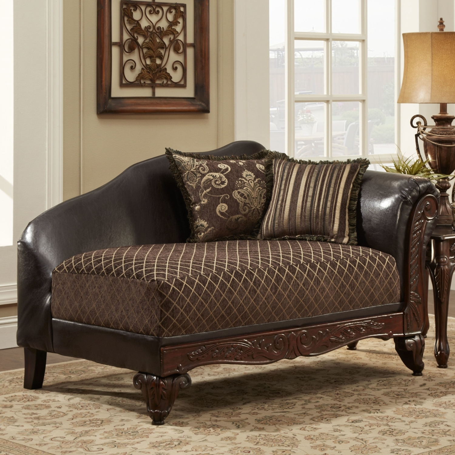 Wonderful Brown Leather Chaise Lounge With Traditional Chaise Within Most Current Brown Leather Chaise Lounges (View 5 of 15)