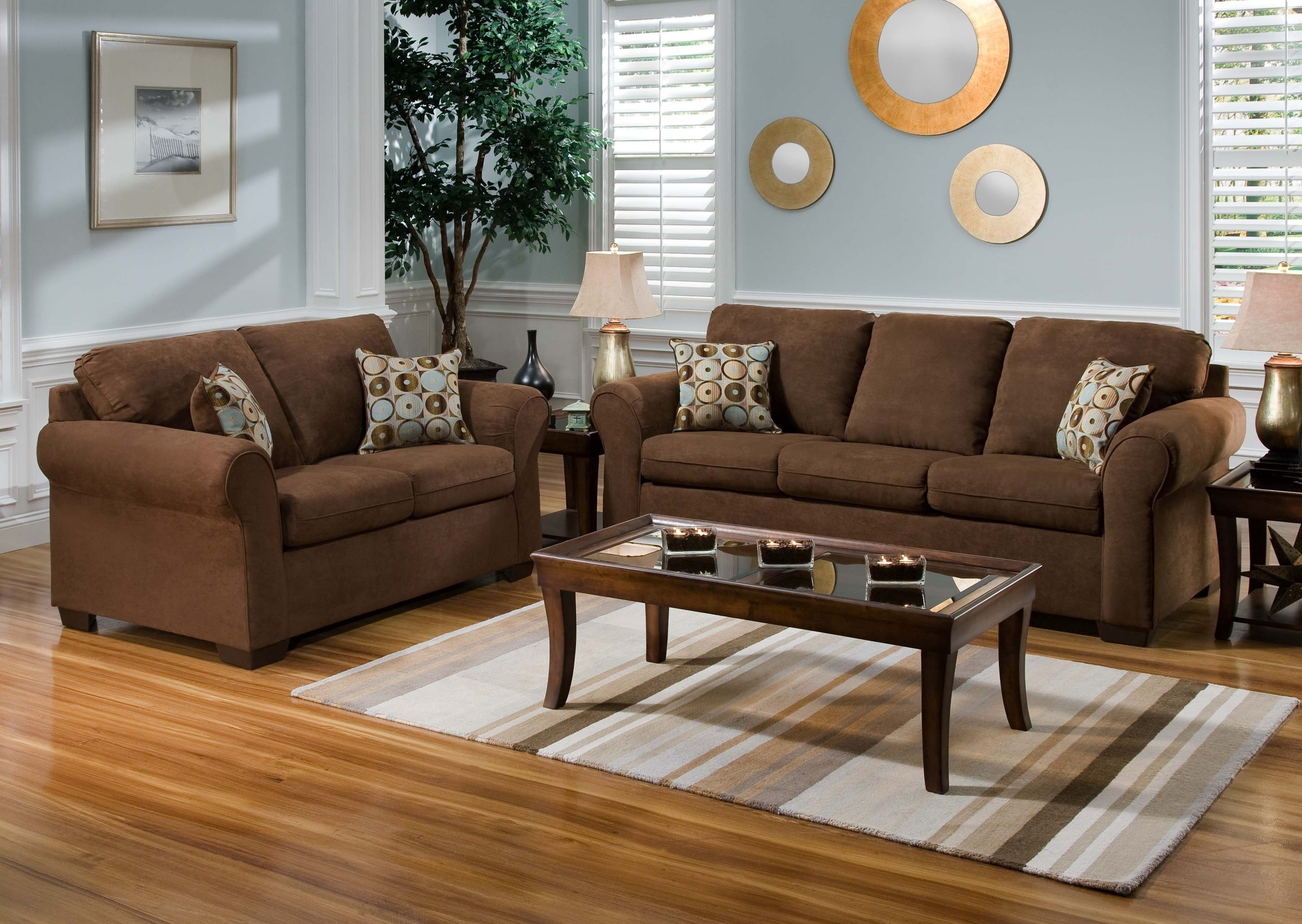 Wood Flooring Color To Complement Brown Leather And Oak Furniture Regarding Widely Used Brown Sofa Chairs (View 2 of 15)